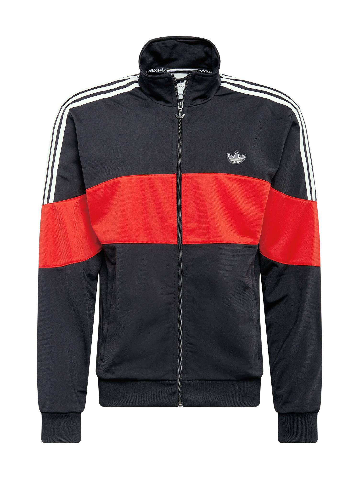ADIDAS ORIGINALS Džemperis juoda / balta / šviesiai raudona