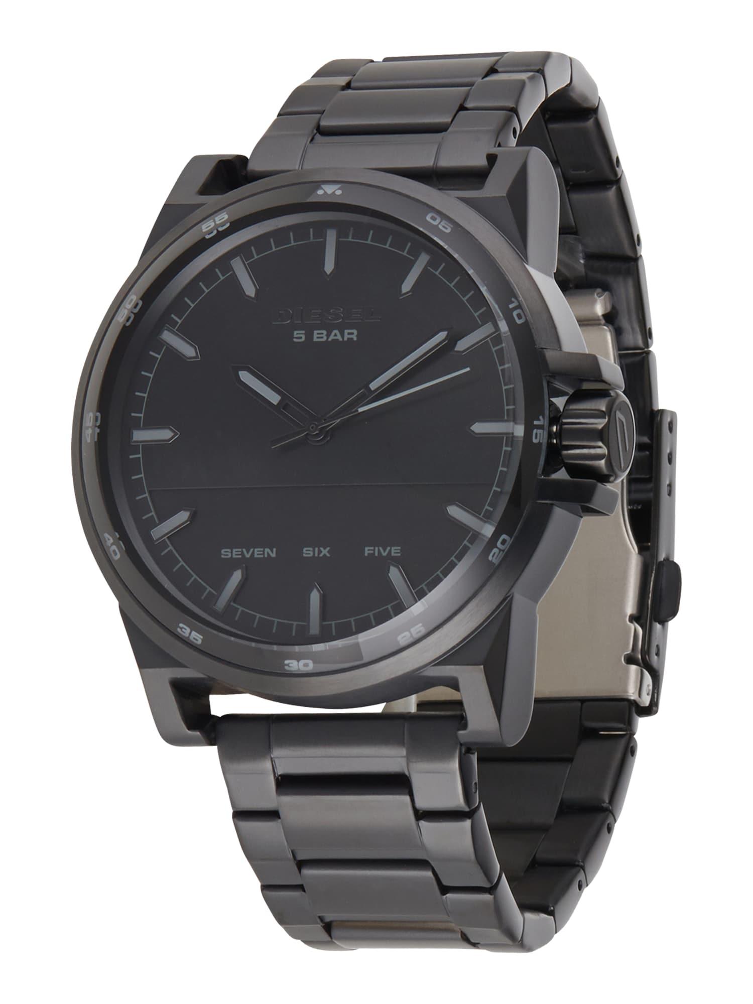 DIESEL Analoginis (įprasto dizaino) laikrodis juoda
