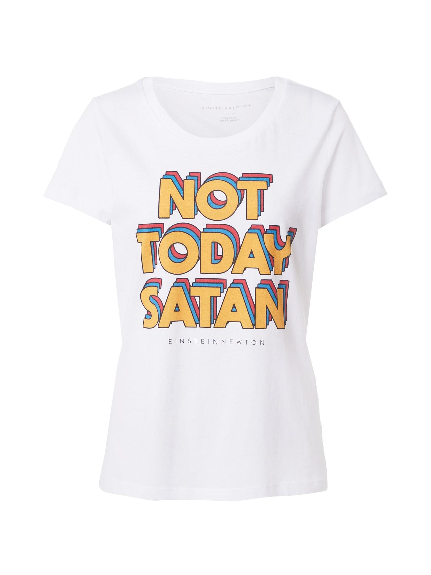 EINSTEIN & NEWTON Marškinėliai balkšva / garstyčių spalva / mėlyna / pastelinė raudona / juoda