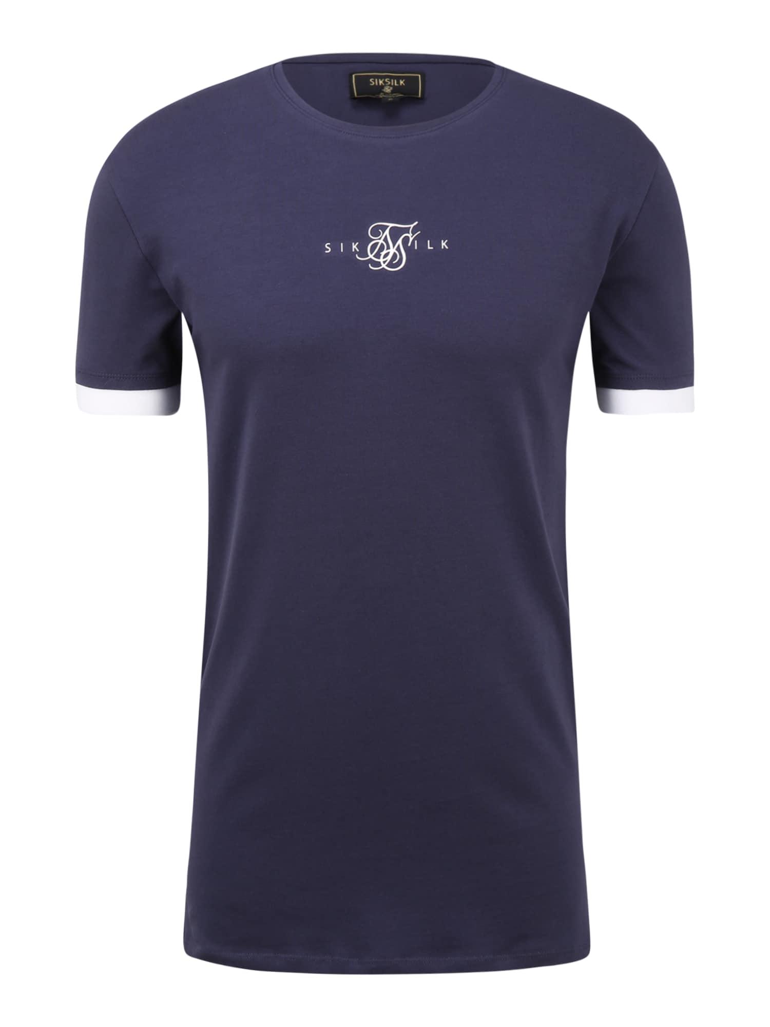 SikSilk Marškinėliai tamsiai mėlyna / balta