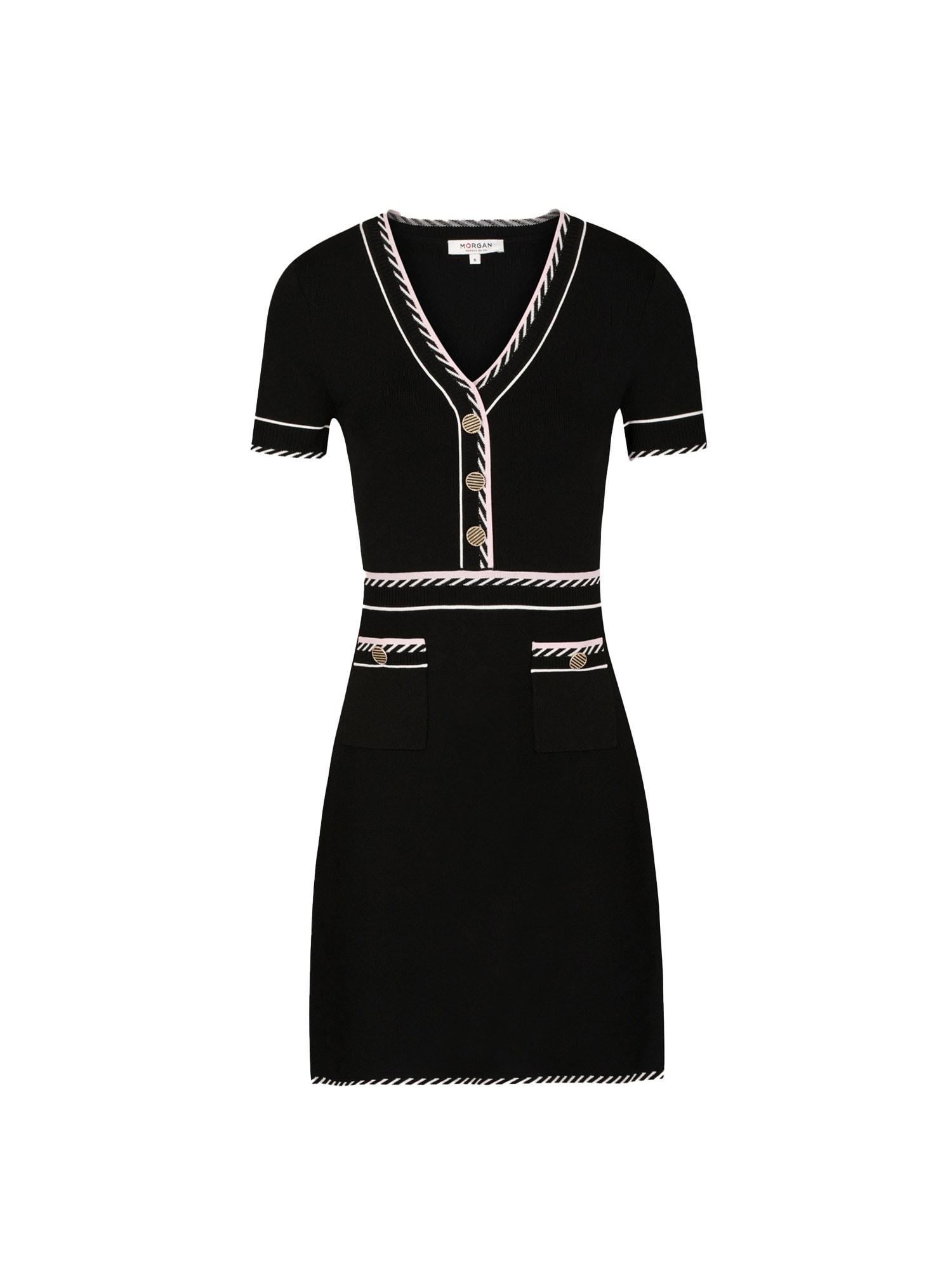 Morgan Úpletové šaty 'RMROSE'  černá / bílá