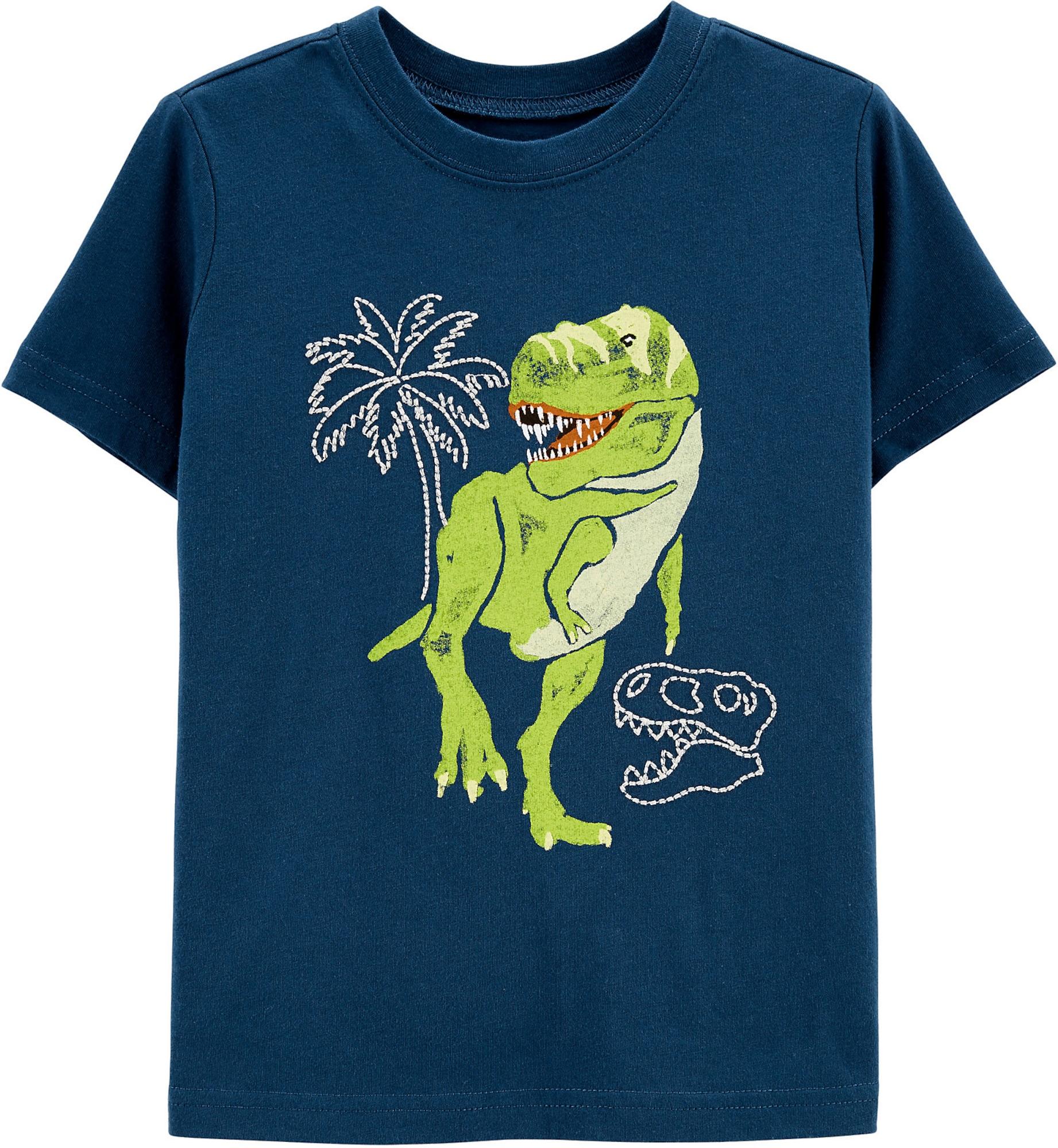 OshKosh Marškinėliai balta / šviesiai žalia / tamsiai mėlyna jūros spalva