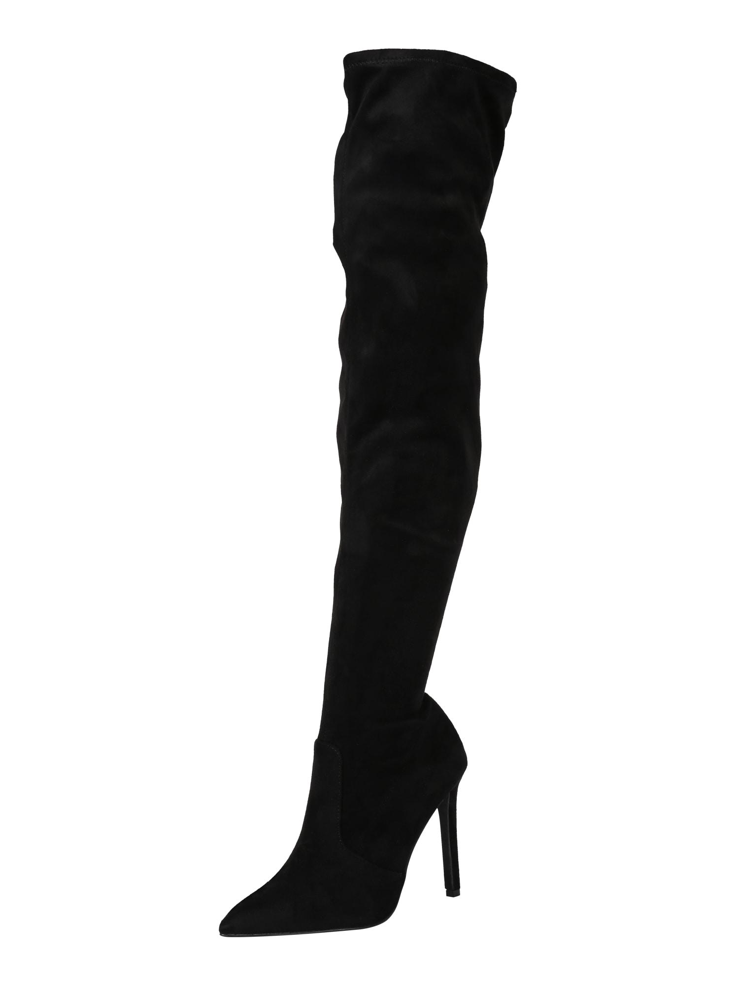 CALL IT SPRING Ilgaauliai batai virš kelių juoda