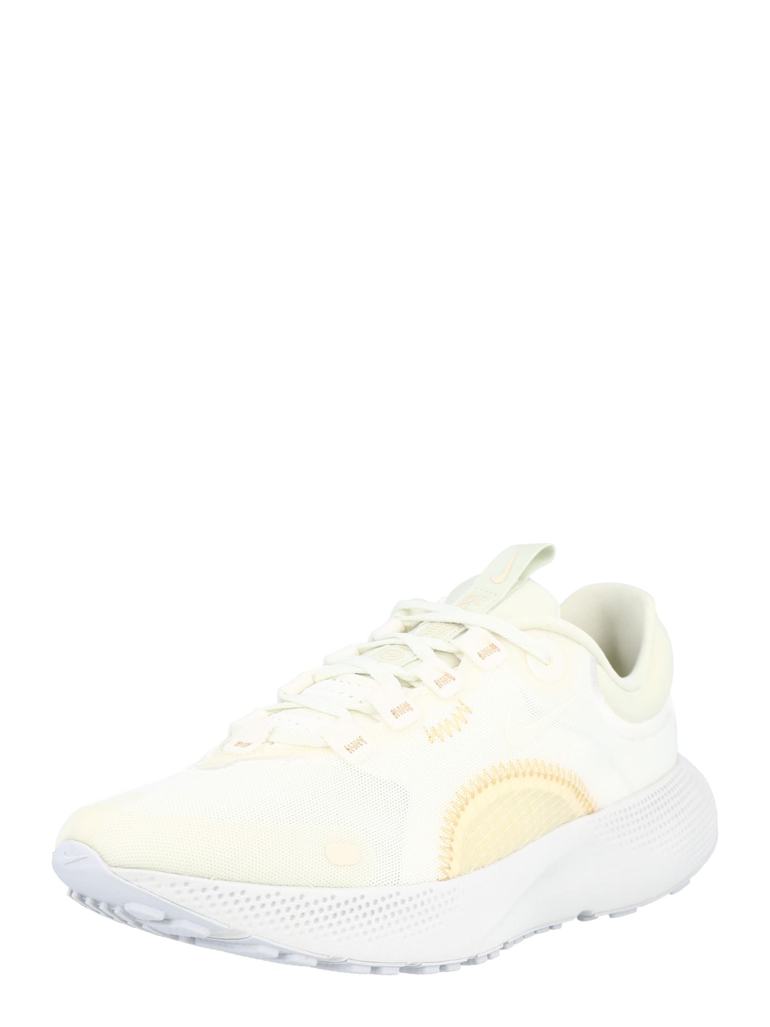 NIKE Bėgimo batai gelsvai pilka spalva / pastelinė geltona