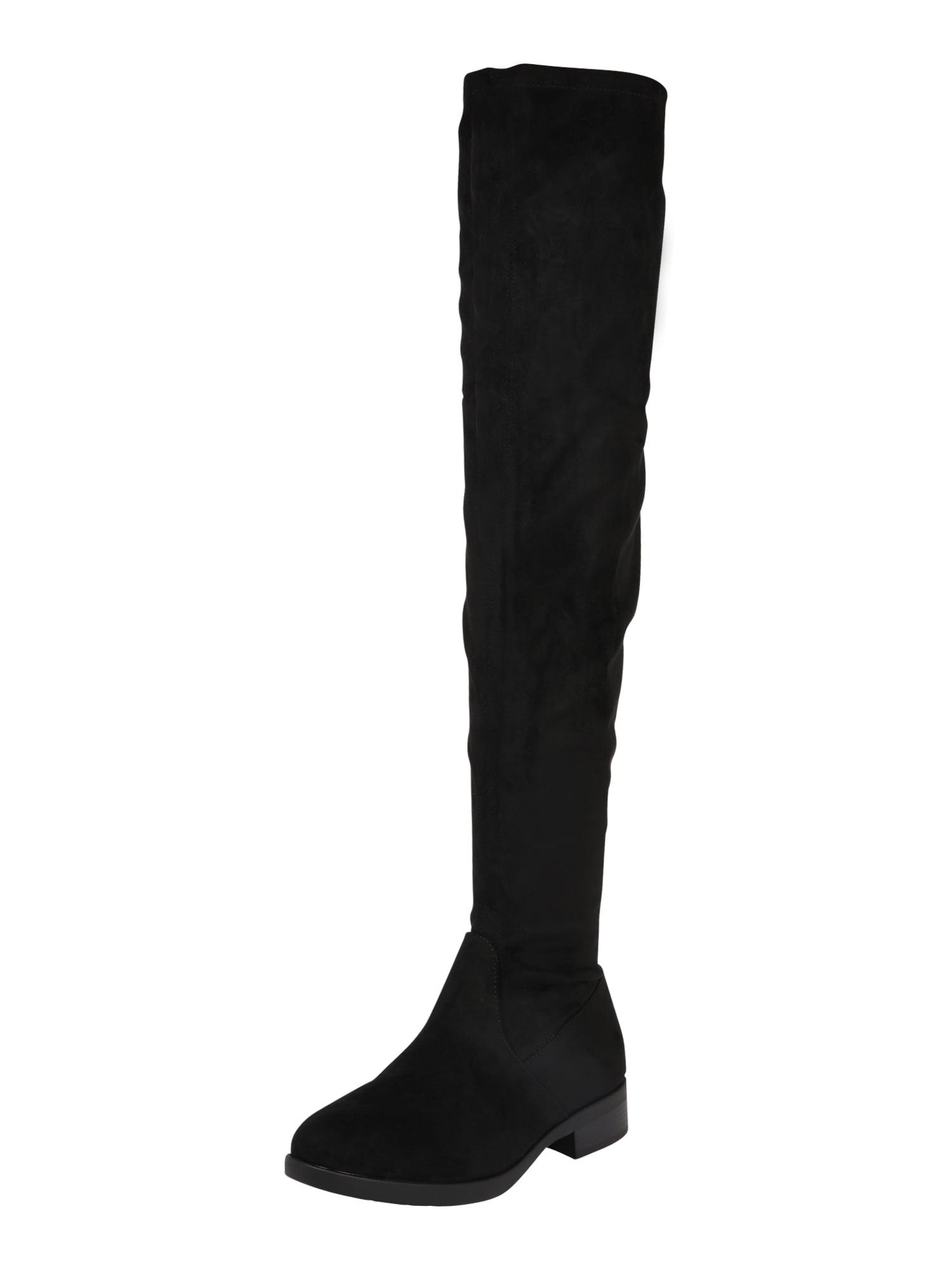 ESPRIT Ilgaauliai batai virš kelių 'Jennife' juoda