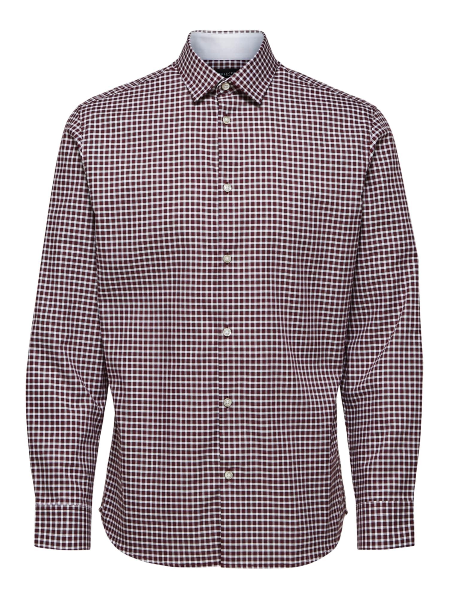 SELECTED HOMME Dalykinio stiliaus marškiniai raudona / balta