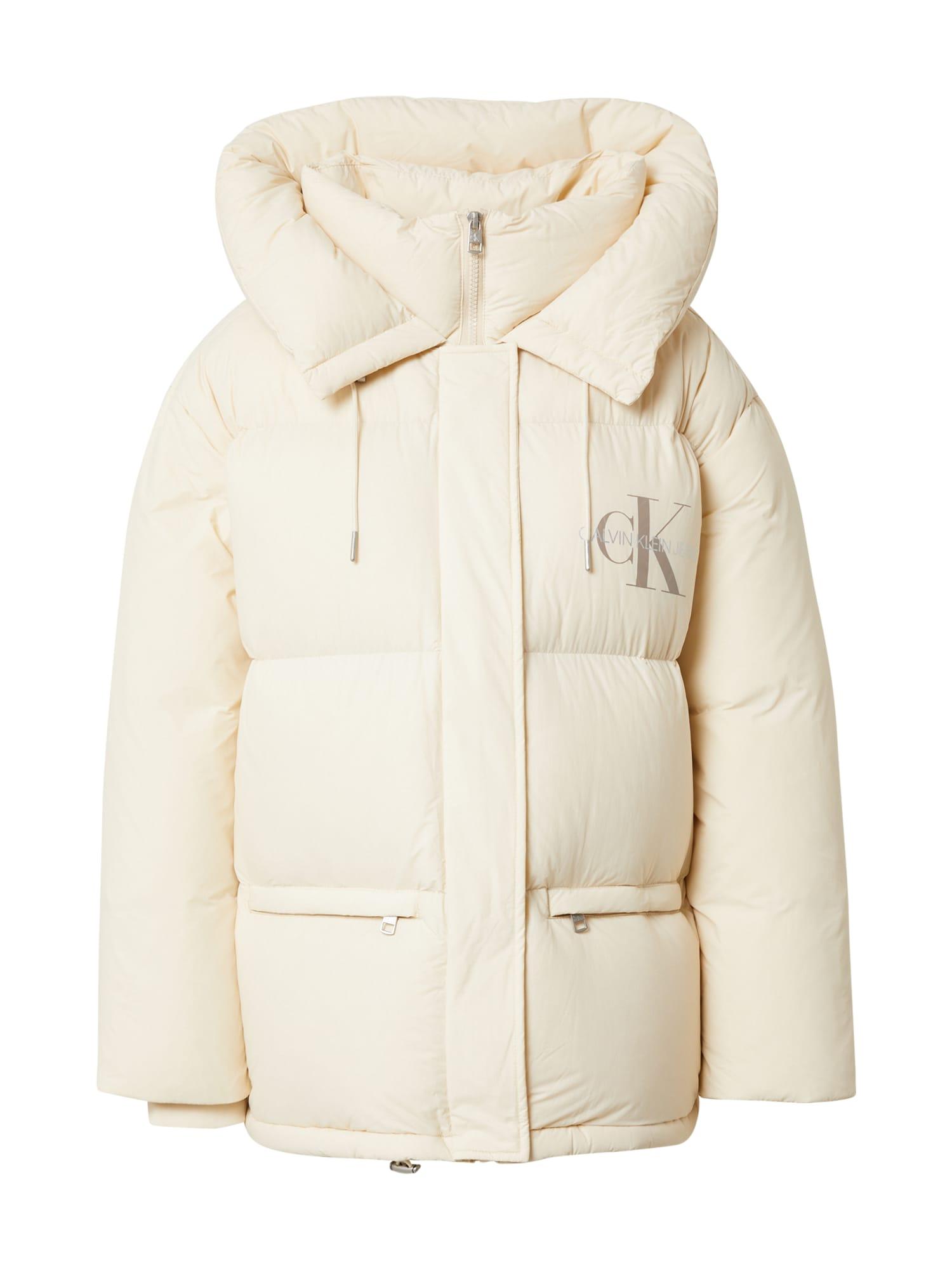 Calvin Klein Jeans Zimní bunda  světle béžová / béžová