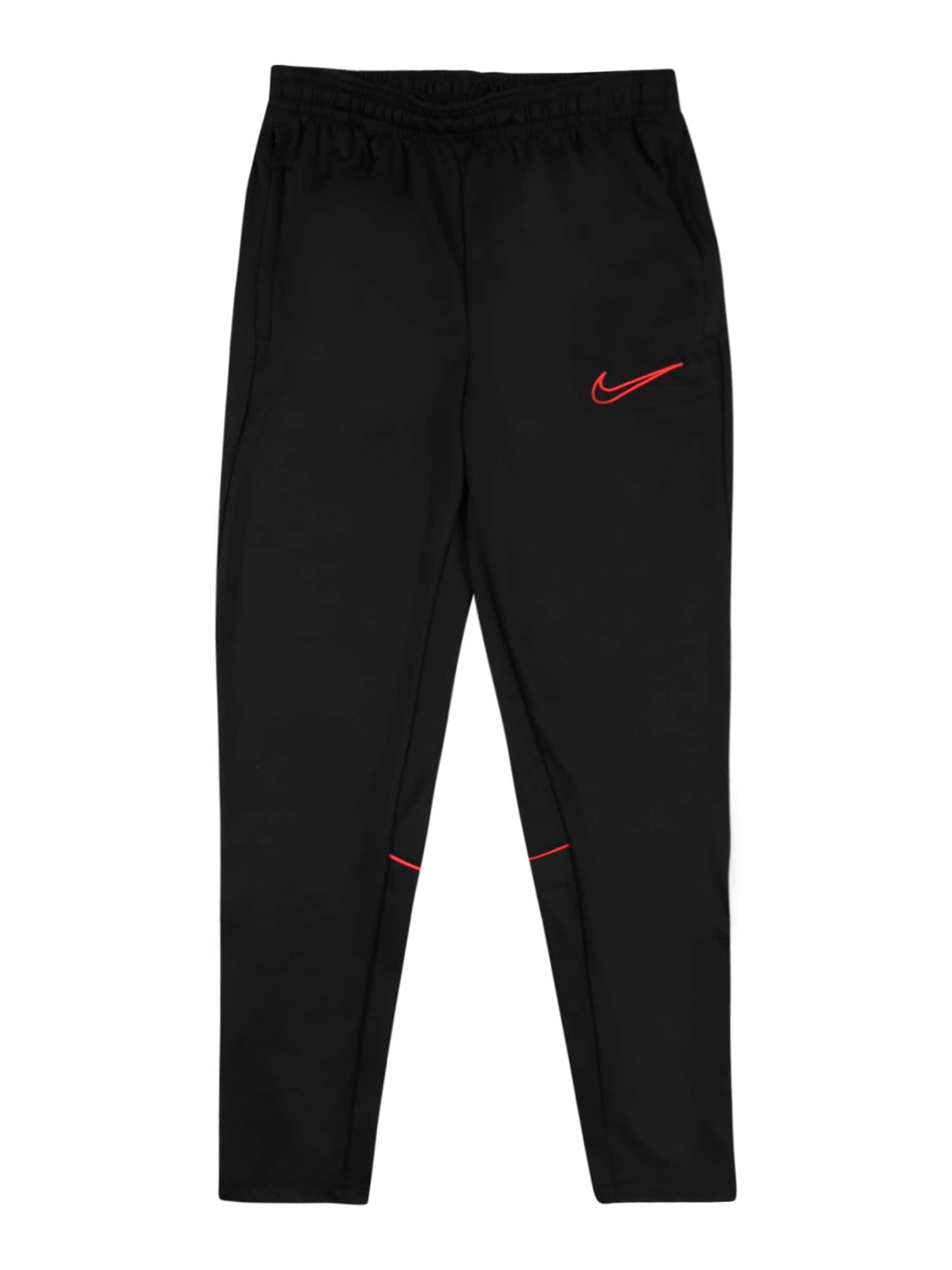 NIKE Sportinės kelnės juoda / raudona