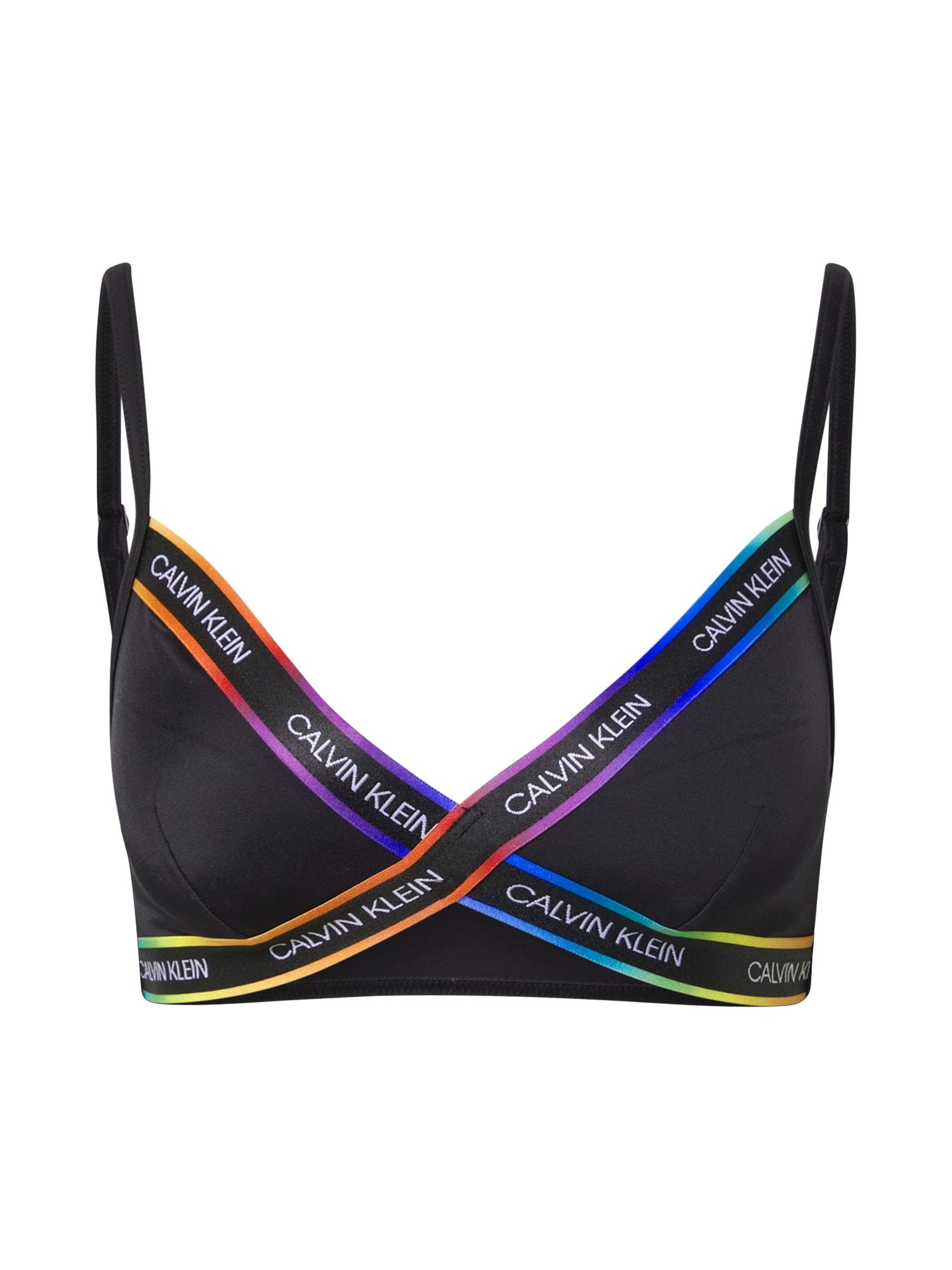 Calvin Klein Swimwear Bikinio viršutinė dalis juoda / mišrios spalvos