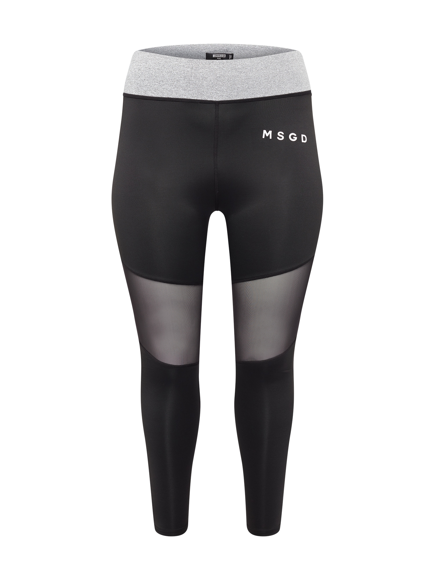 Missguided Plus Tamprės juoda / balta / margai pilka