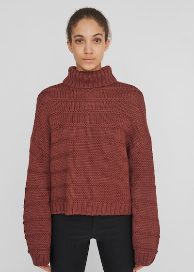 Noisy May Wendy grob gestrickter Pullover mit langen Ärmeln und hohem Kragen