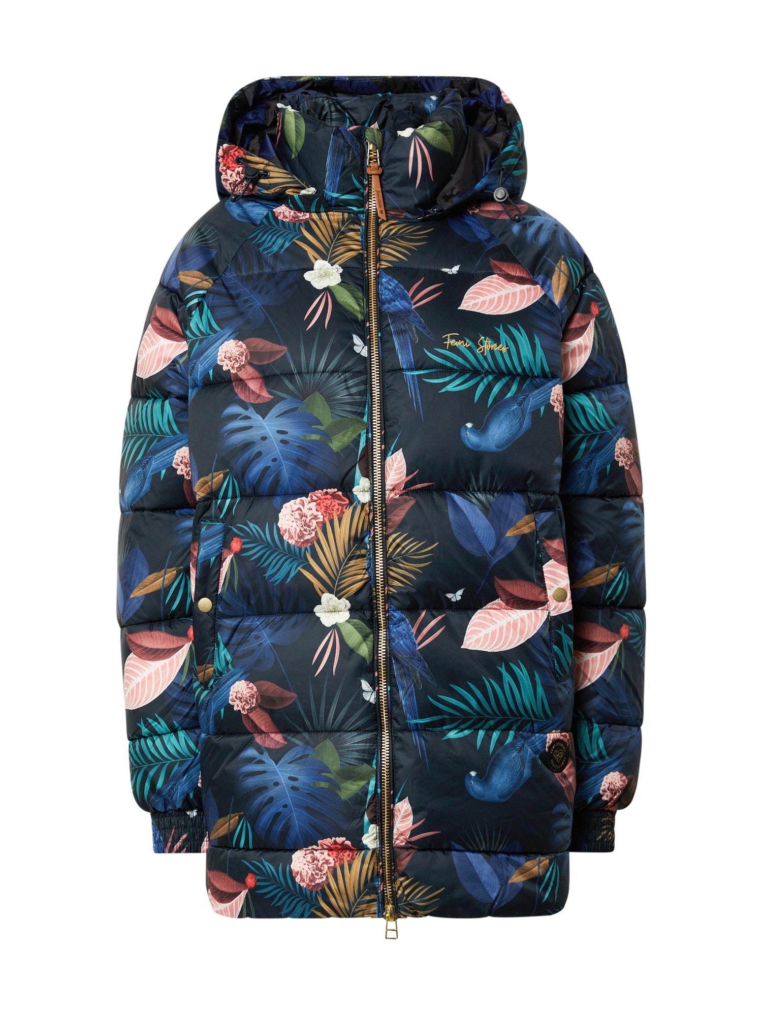 Femi Stories Přechodný kabát 'Daphne'  modrá / mix barev