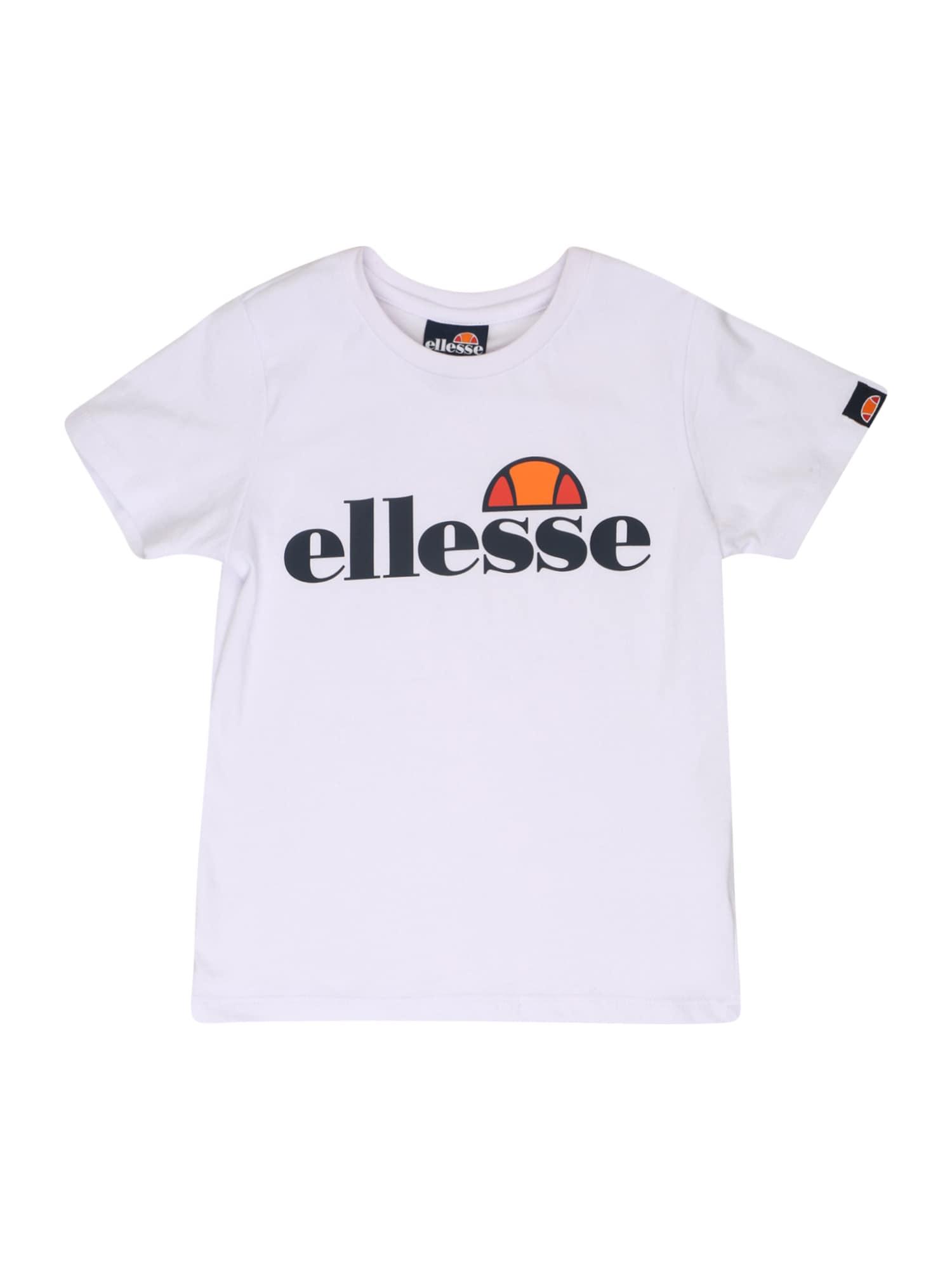 ELLESSE Marškinėliai 'Malia' balta / tamsiai mėlyna / oranžinė / raudona