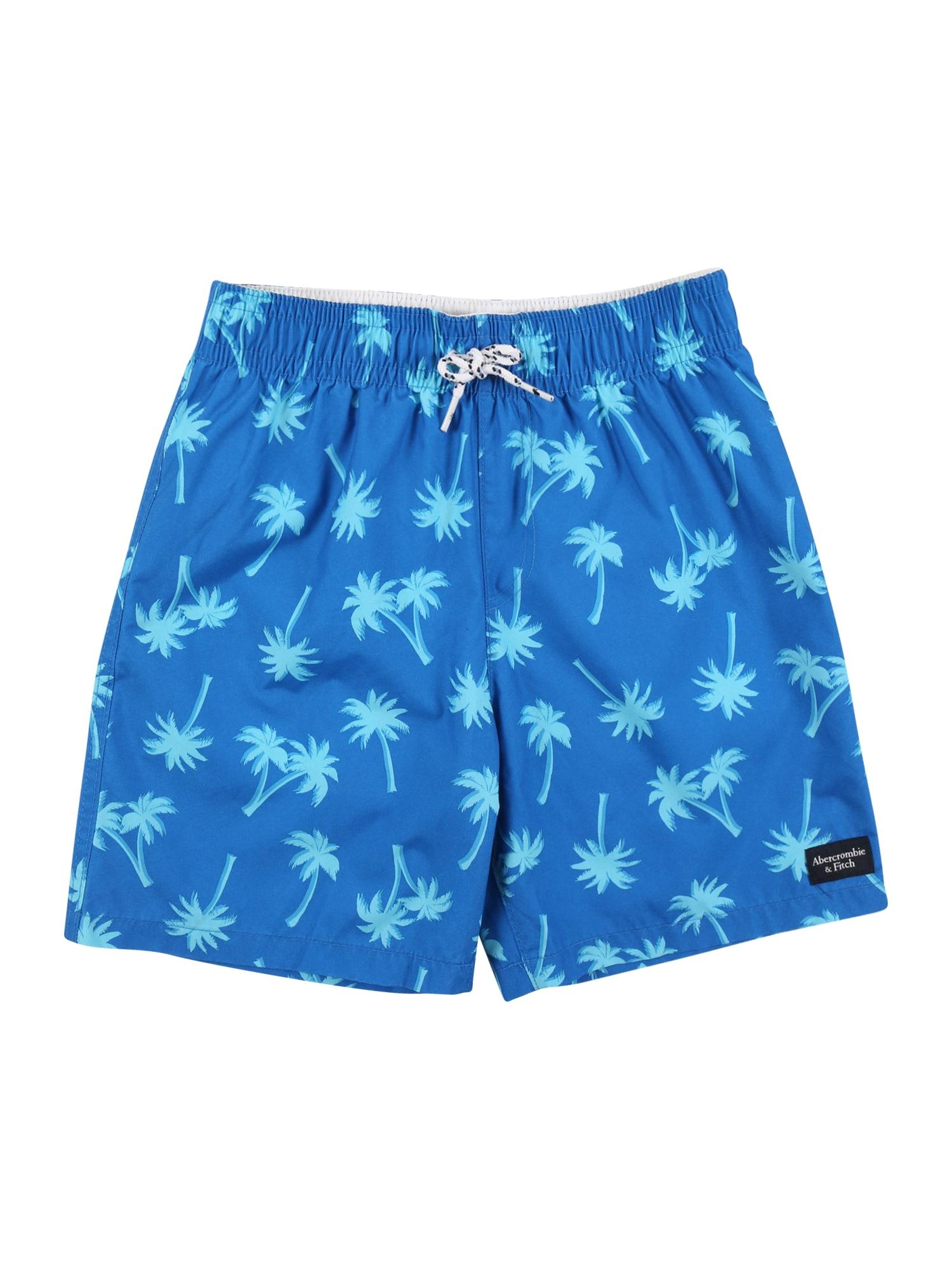 Abercrombie & Fitch Maudymosi trumpikės mėlyna / turkio spalva