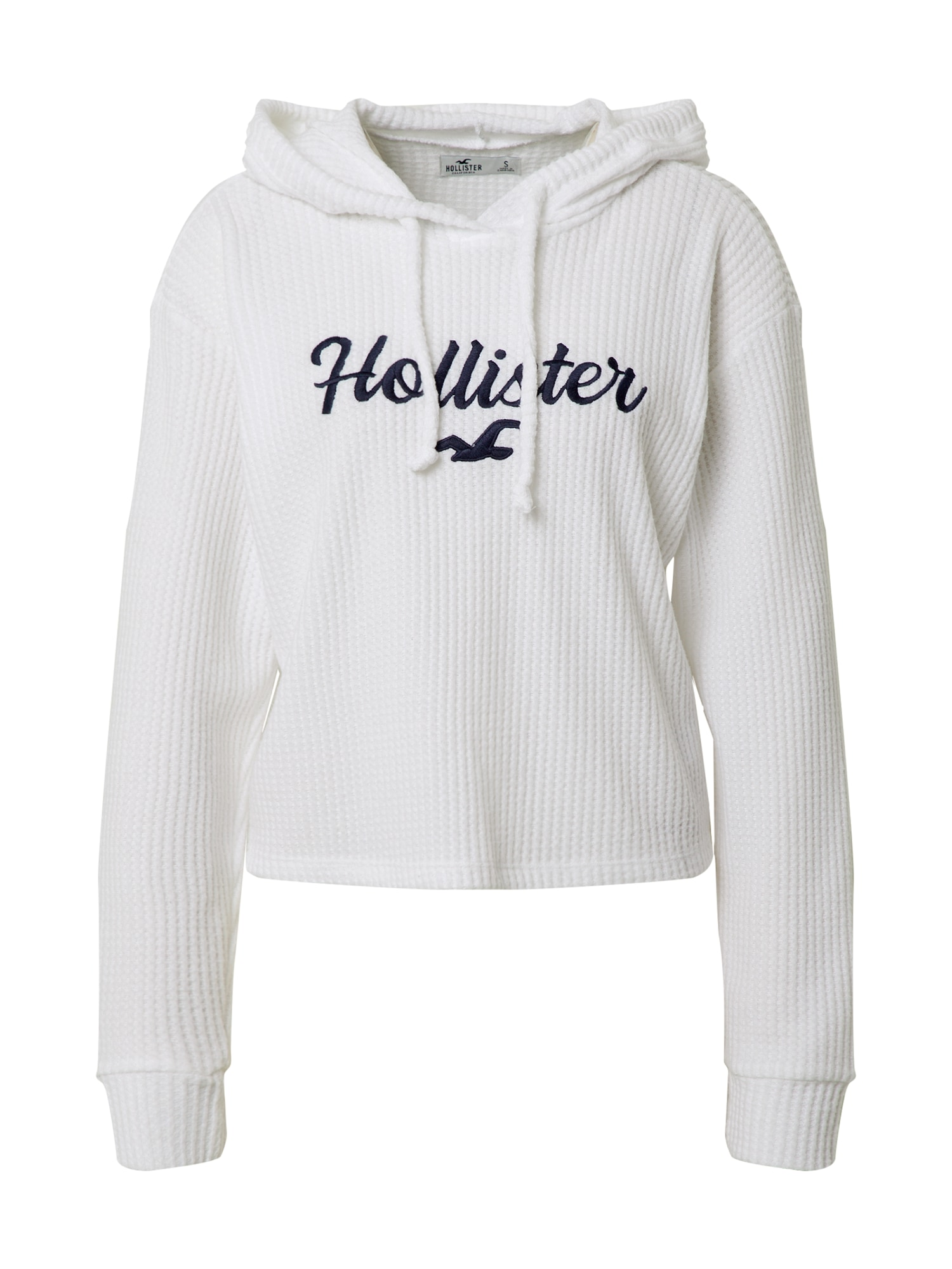 HOLLISTER Megztinis balta / nakties mėlyna