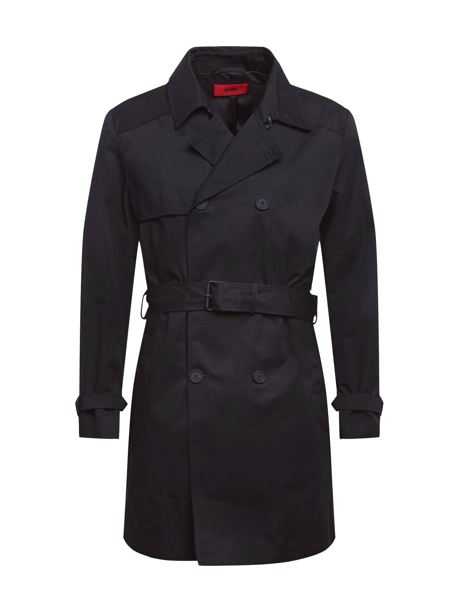 HUGO Přechodný kabát 'Maluks 2041'  černá