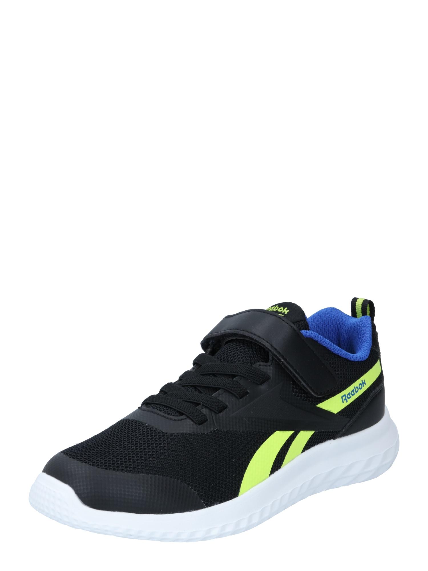 REEBOK Sportiniai batai 'Rush Runner' juoda / neoninė geltona