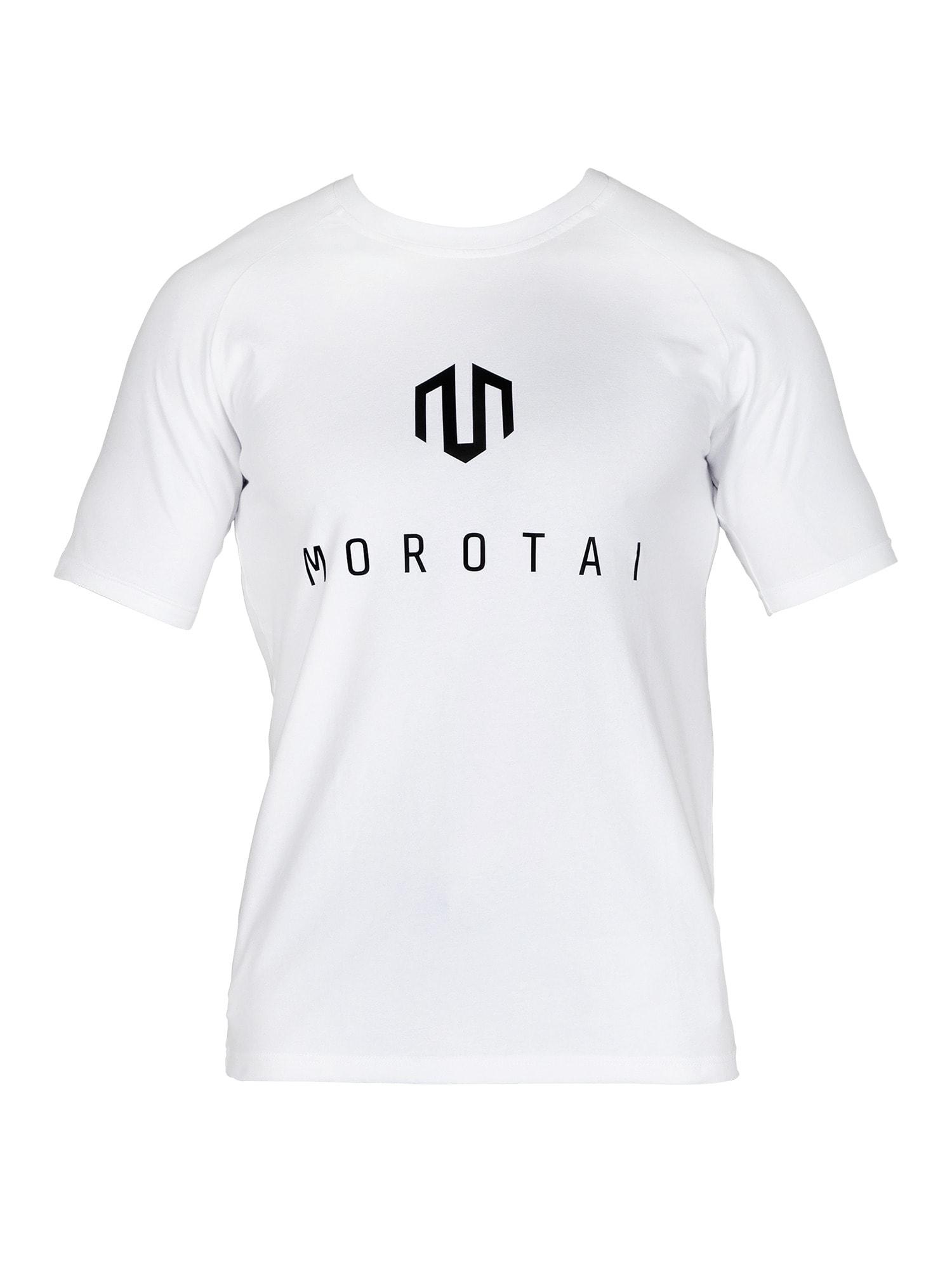 MOROTAI Funkční tričko  bílá / černá