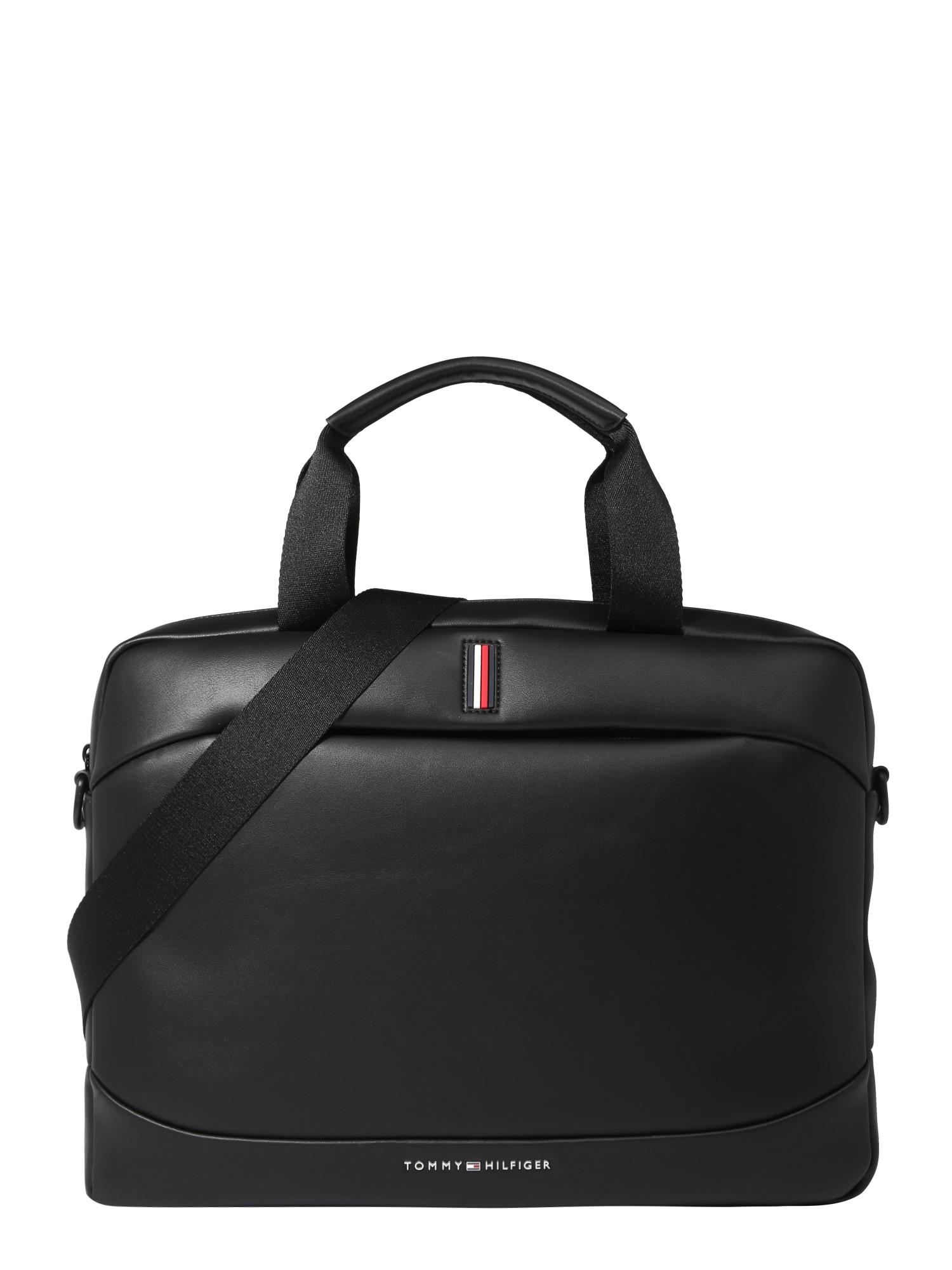 TOMMY HILFIGER Nešiojamo kompiuterio krepšys 'METRO' juoda