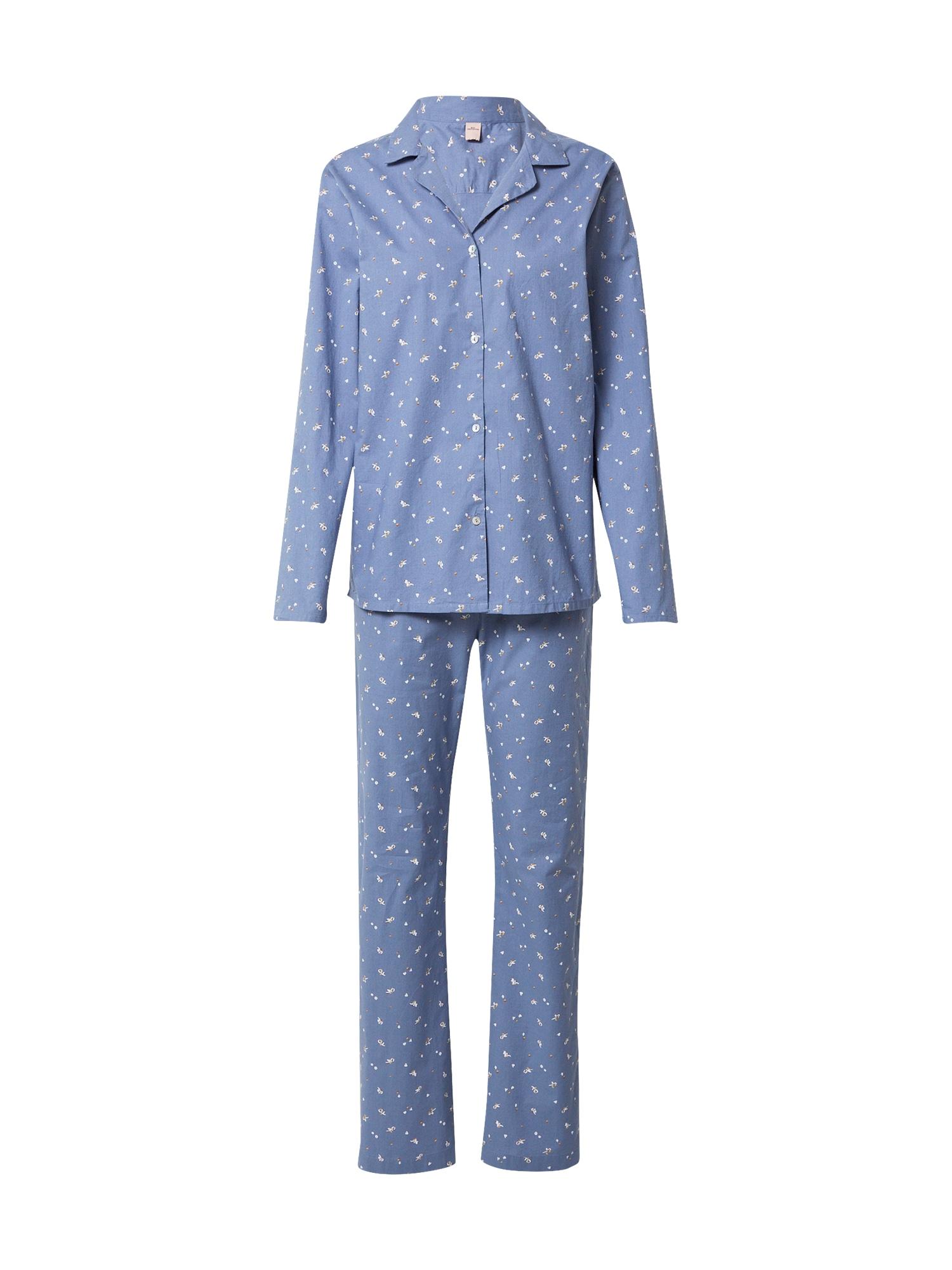 BeckSöndergaard Pižama mėlyna dūmų spalva / balta