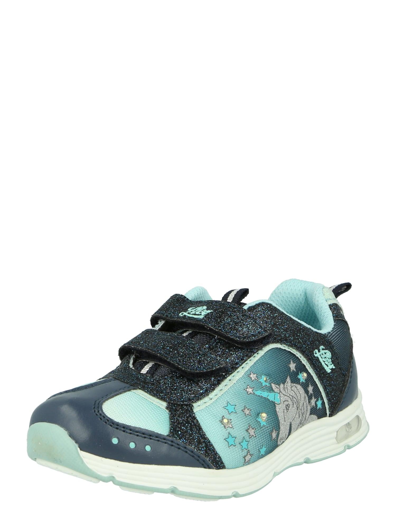 LICO Sportiniai batai 'Blinkies Unicorn Blinky' tamsiai mėlyna / šviesiai mėlyna