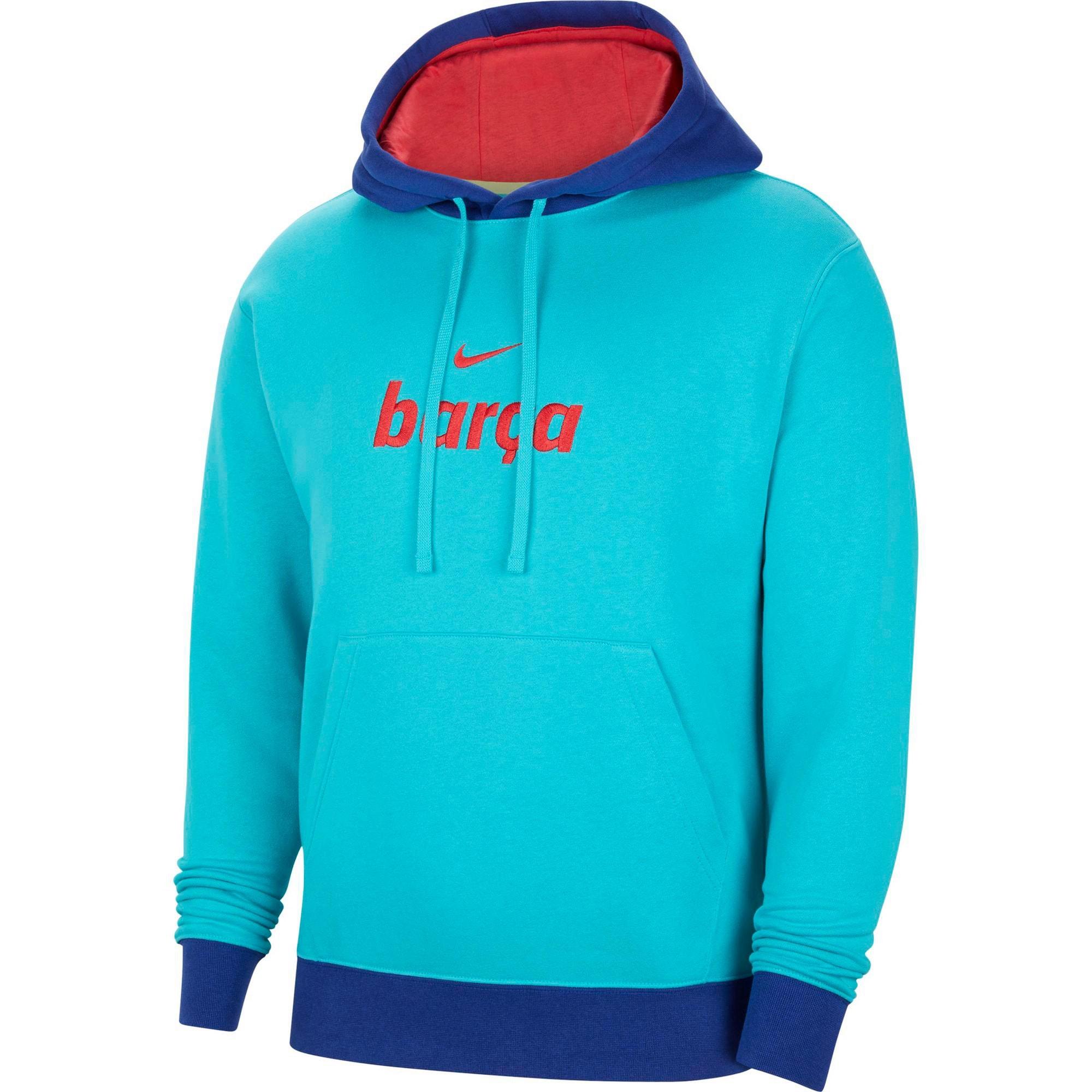 NIKE Sportinio tipo megztinis kraujo spalva / indigo spalva / turkio spalva