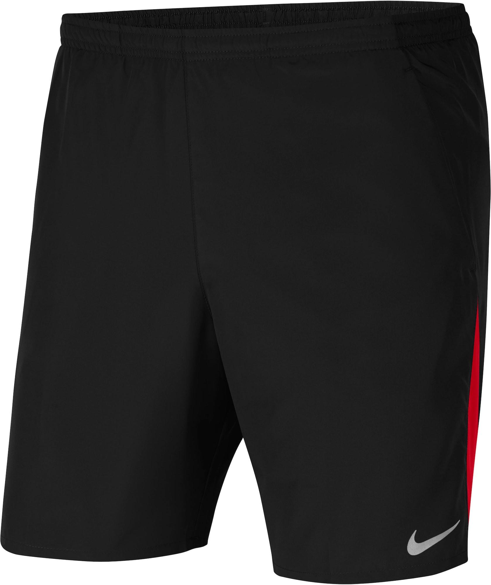 NIKE Sportinės kelnės juoda / ugnies raudona / šviesiai pilka