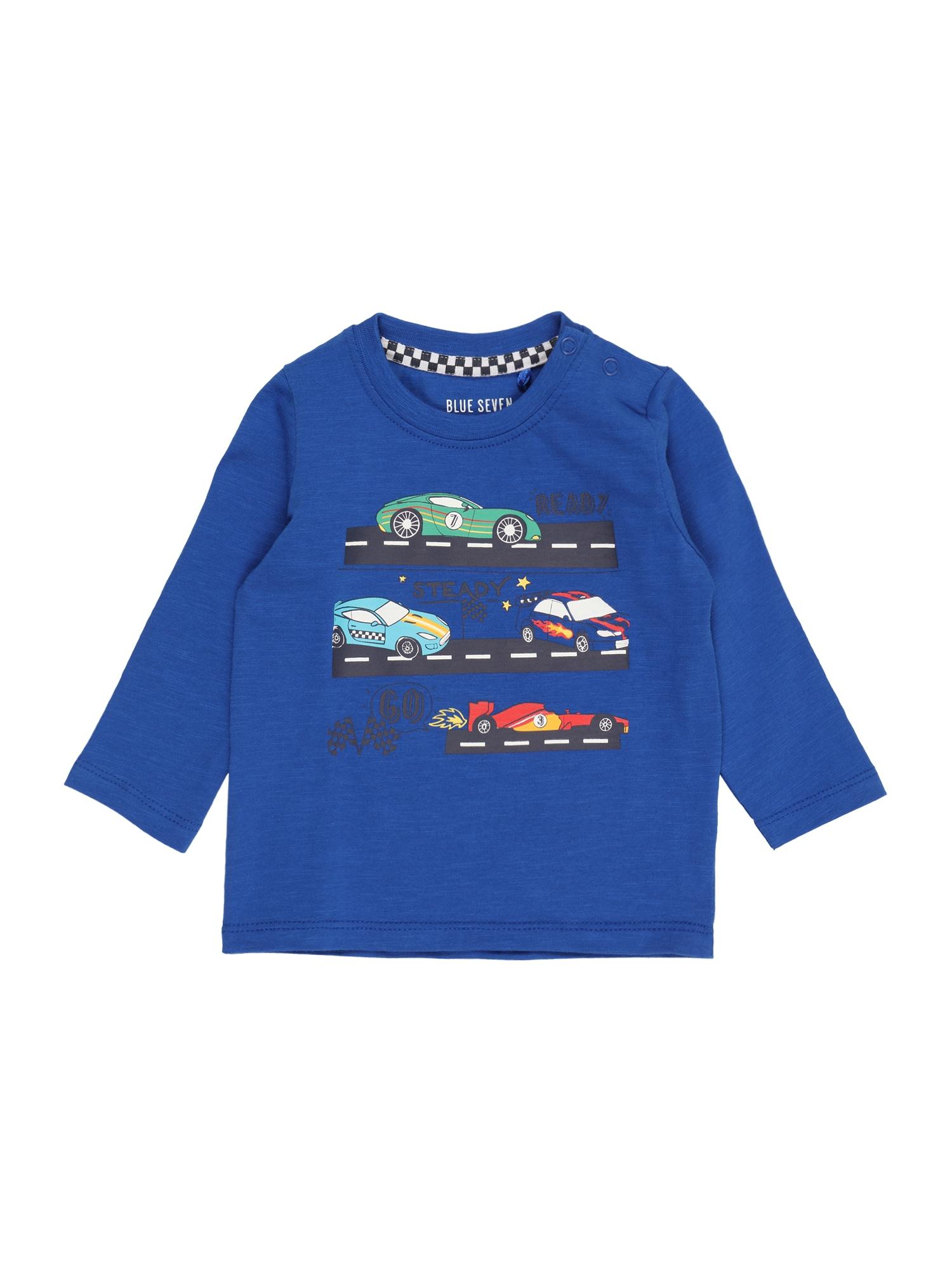 """BLUE SEVEN Marškinėliai sodri mėlyna (""""karališka"""") / balta / juoda / tamsiai oranžinė / mišrios spalvos"""