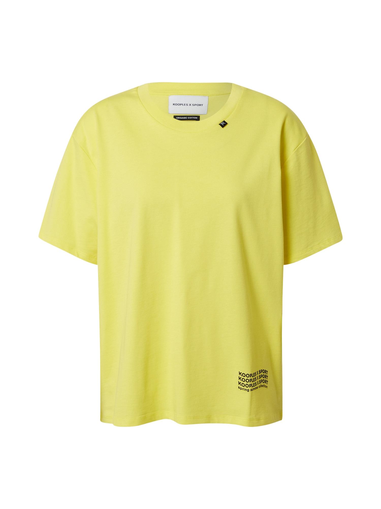 THE KOOPLES SPORT Marškinėliai geltona / juoda