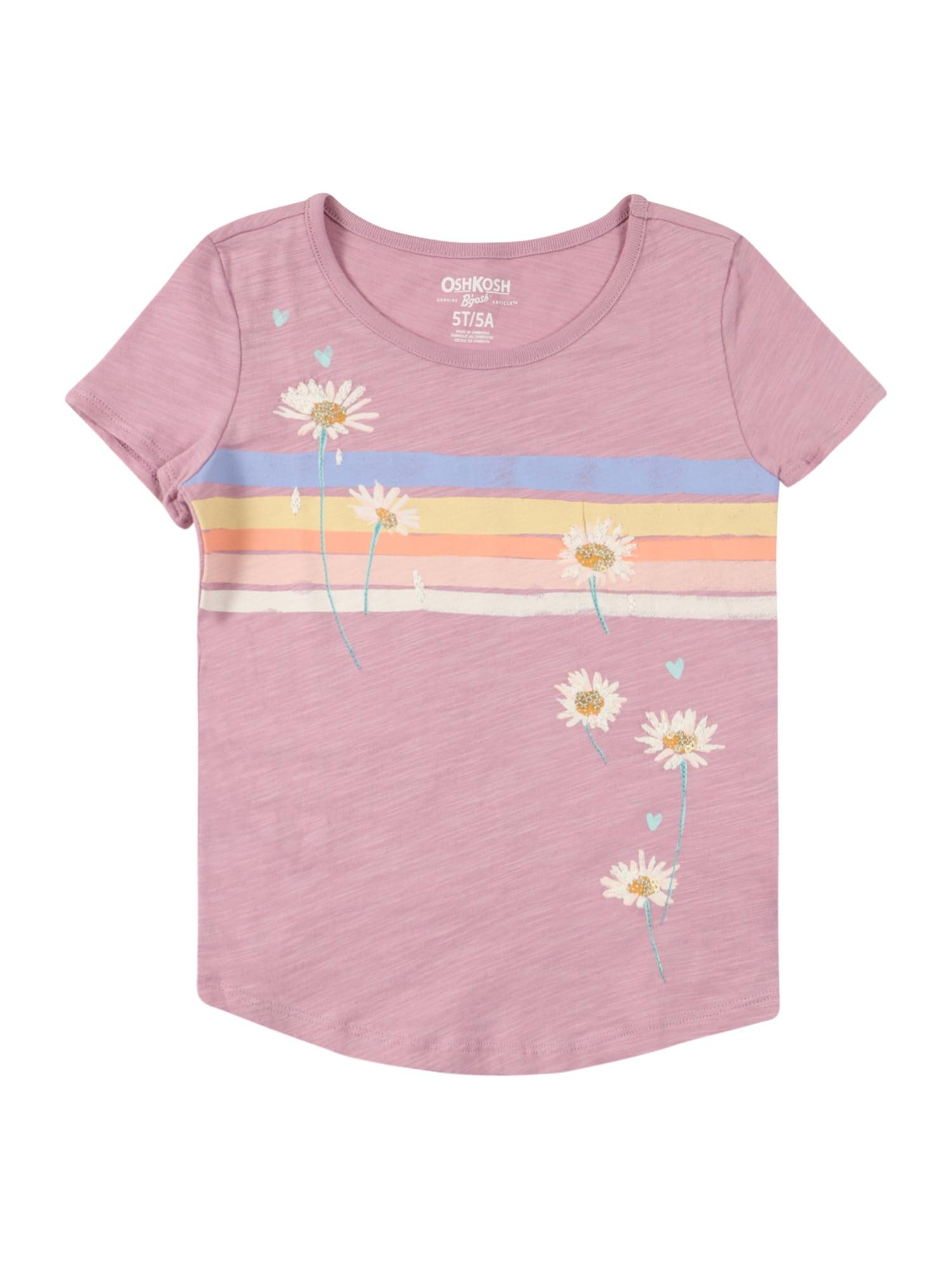 OshKosh Marškinėliai rožinė / balta / geltona / oranžinė / rožių spalva