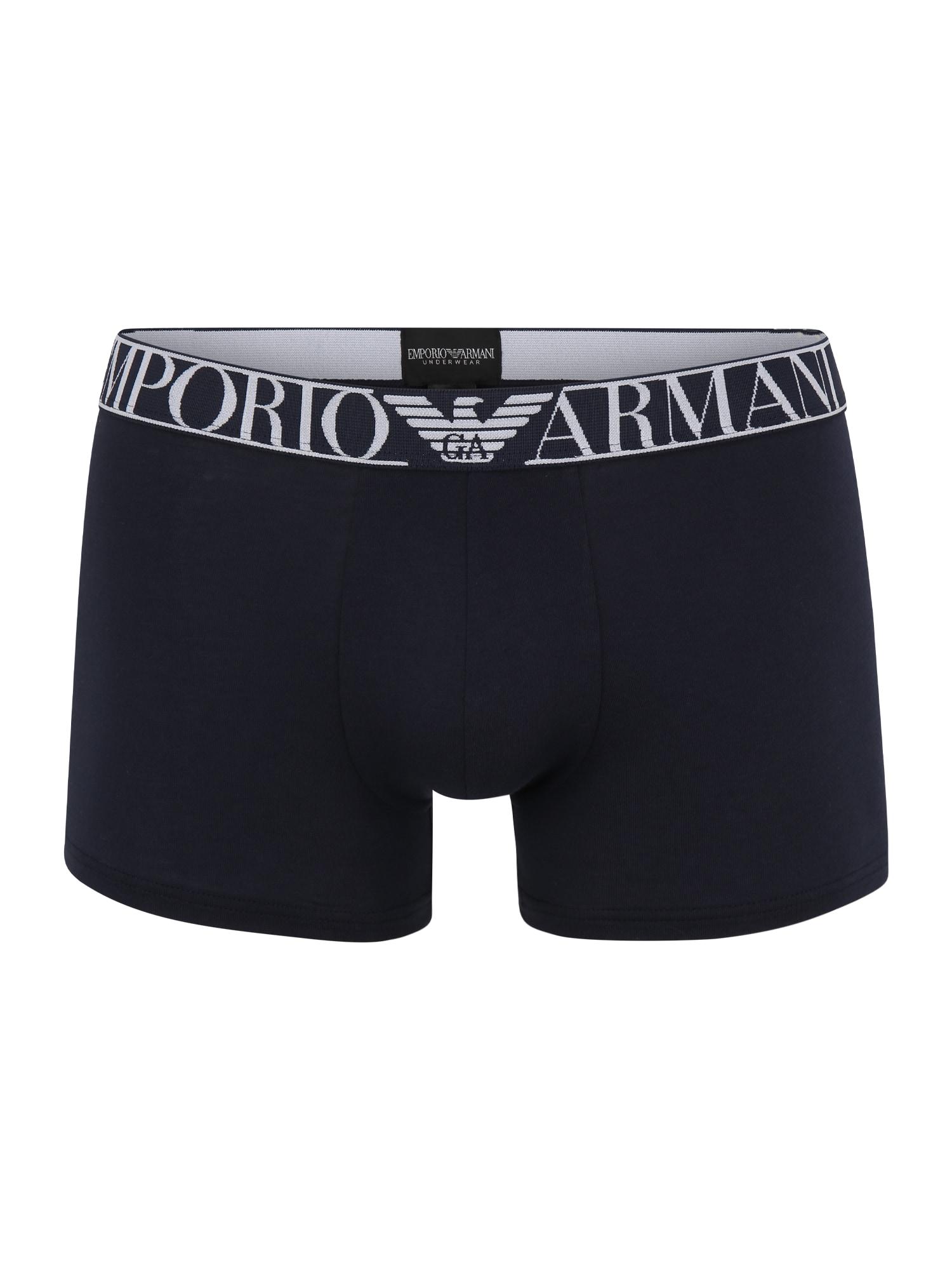Emporio Armani Boxer trumpikės tamsiai mėlyna jūros spalva / balta