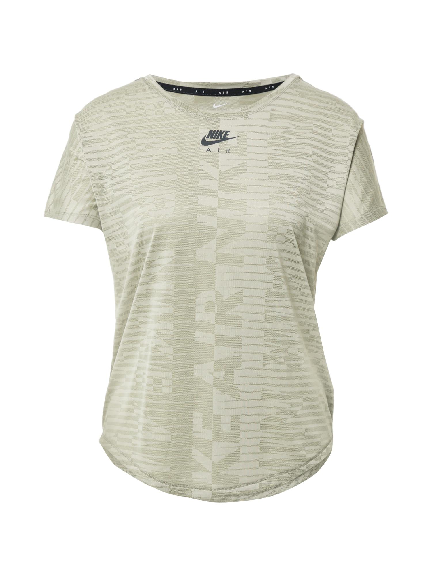 NIKE Sportiniai marškinėliai akmens / rusvai žalia