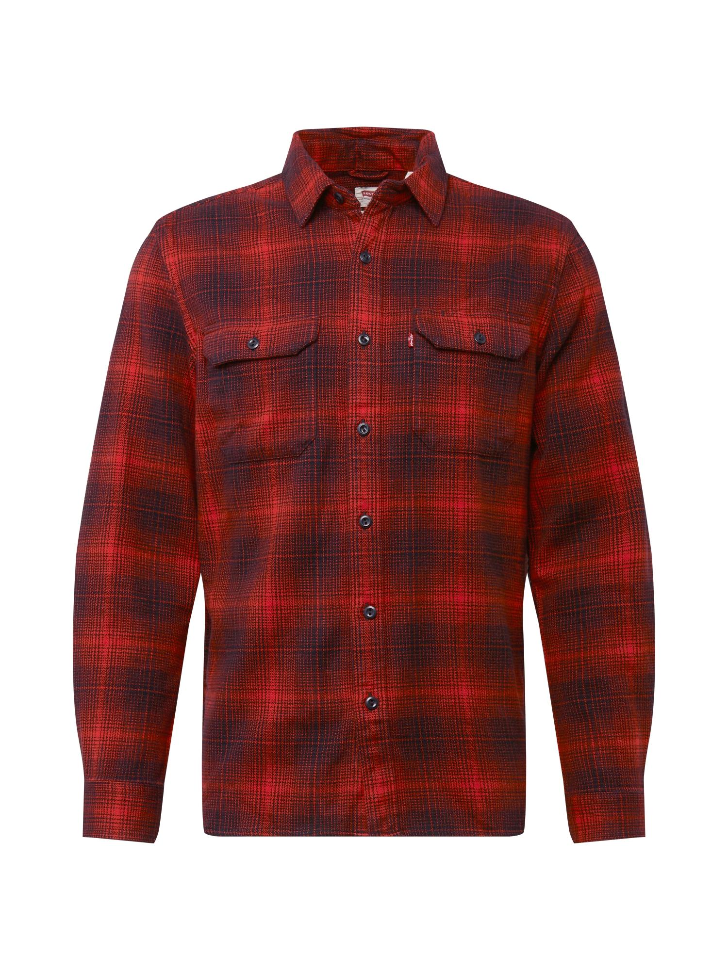 LEVI'S Krojová košile  černá / červená