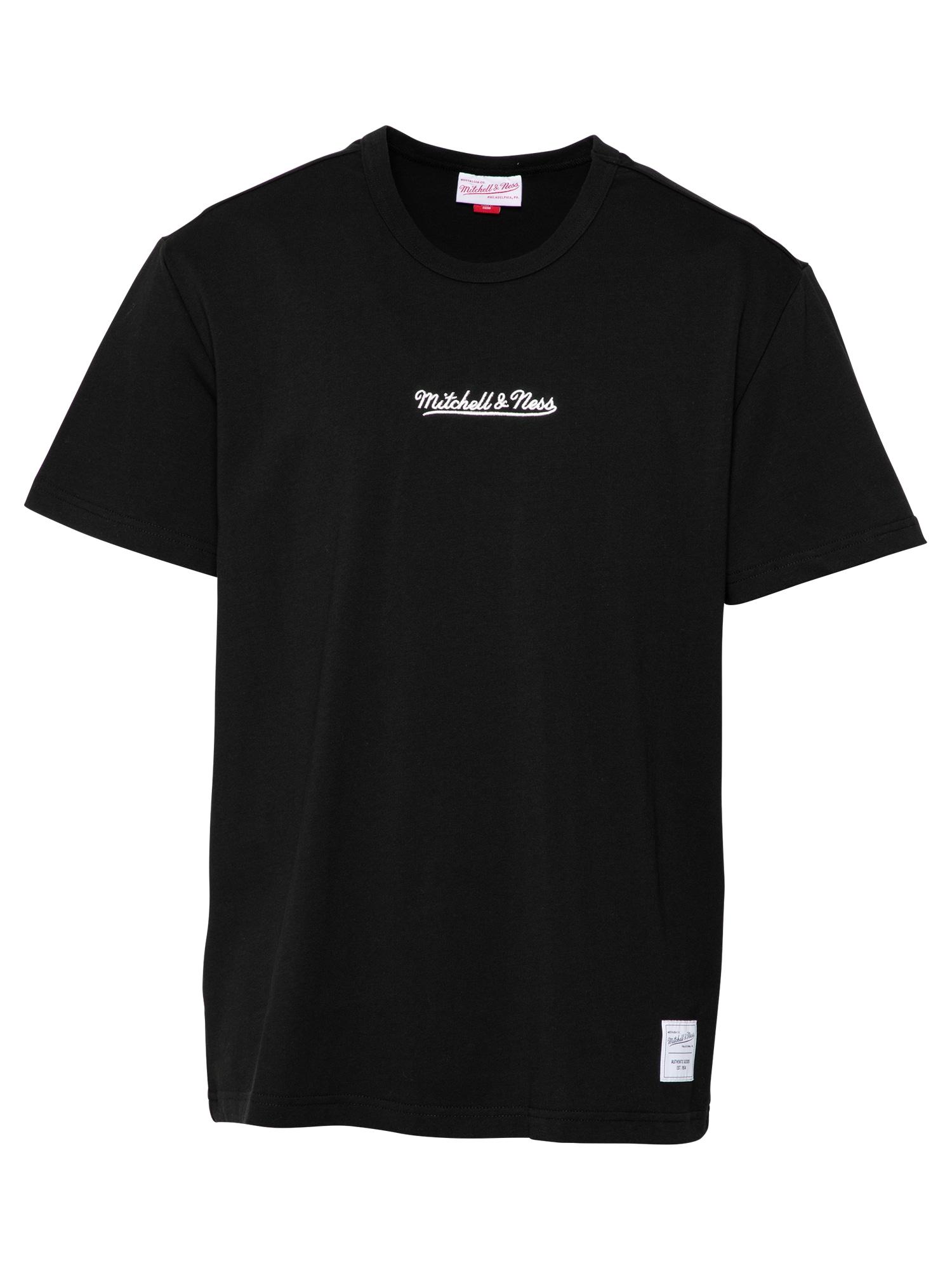 Mitchell & Ness Marškinėliai juoda / balta