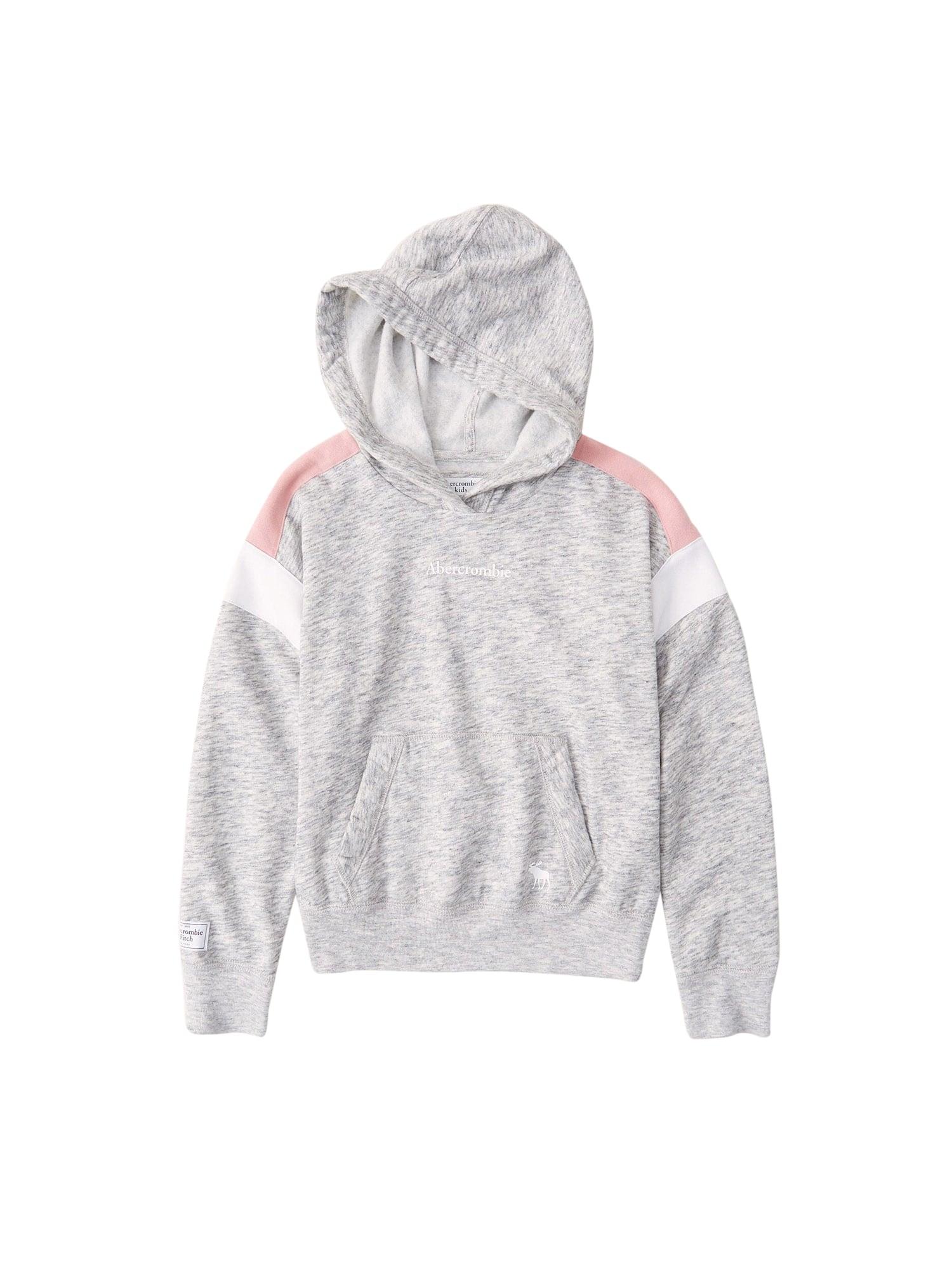 Abercrombie & Fitch Megztinis be užsegimo šviesiai pilka / balta / rožių spalva