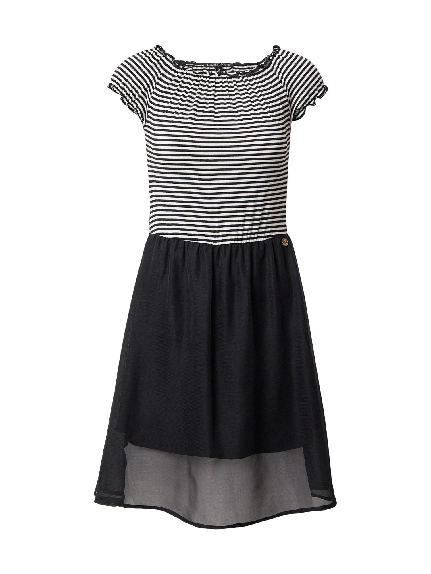 Eight2Nine Suknelė juoda / balta