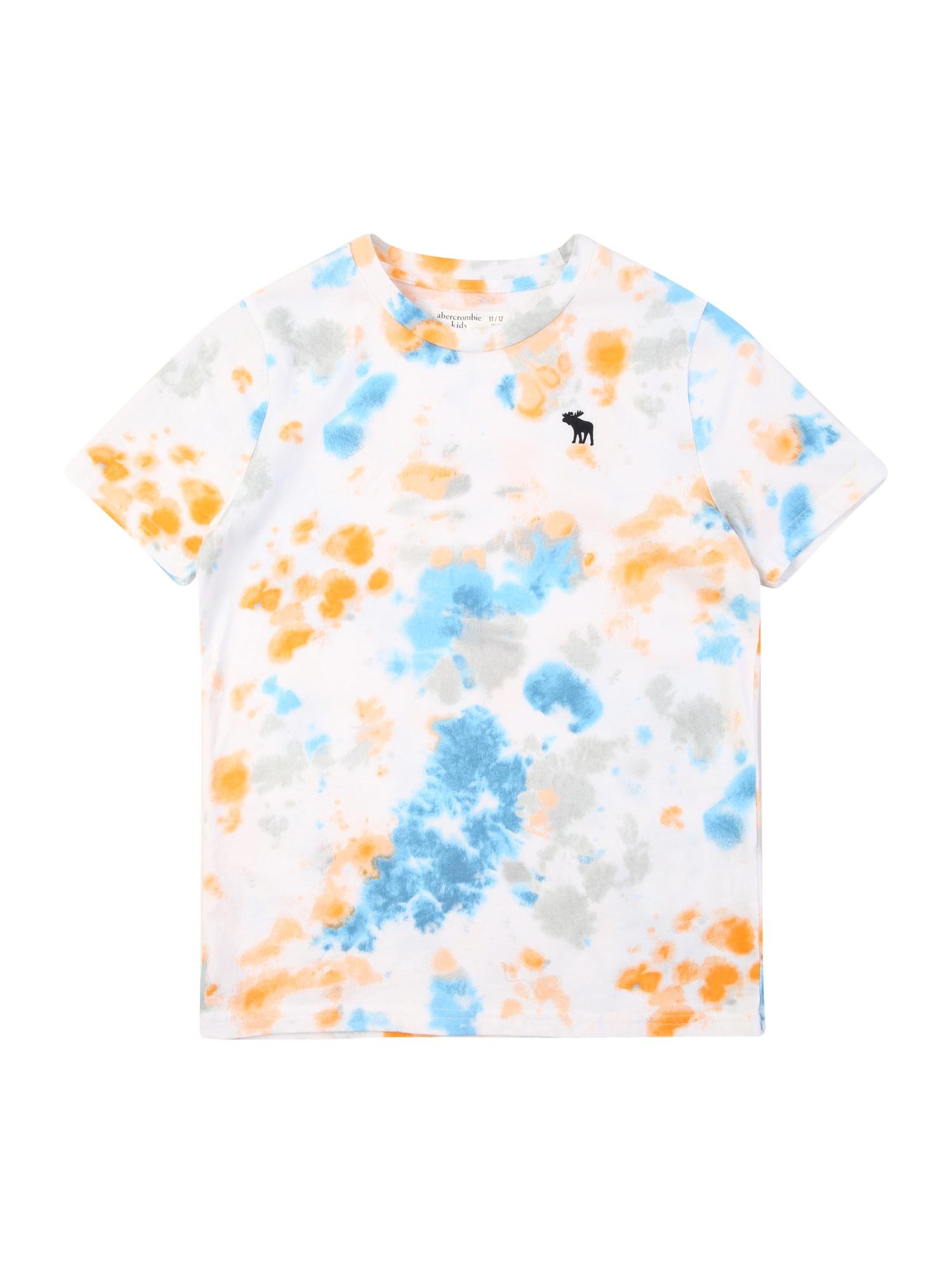 Abercrombie & Fitch Marškinėliai balta / turkio spalva / oranžinė / pilka