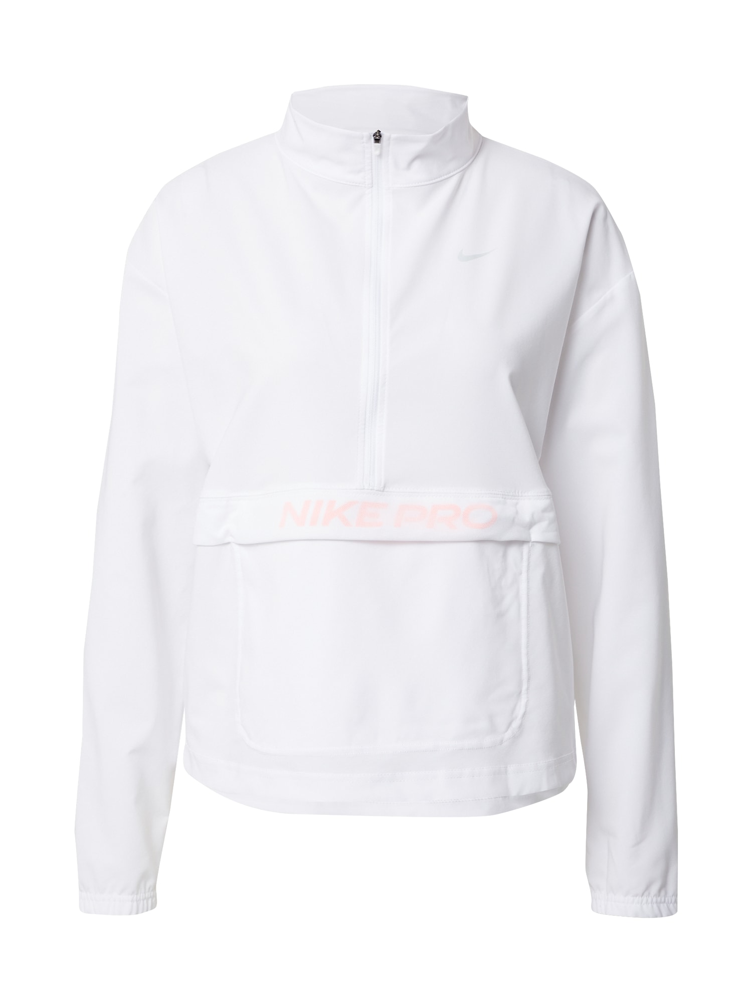 NIKE Sportinio tipo megztinis balta / šviesiai rožinė / pilka