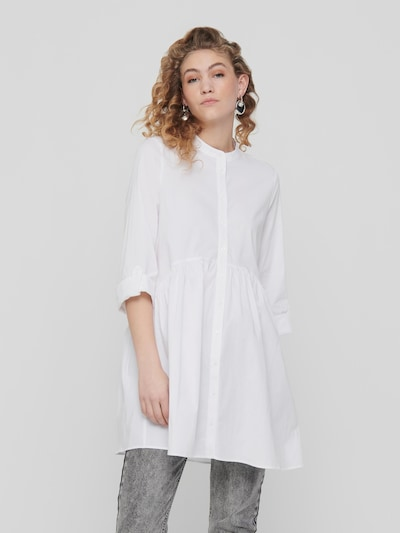 Only Ditte High Neck 3/4 Ärmel Mini-Hemdkleid