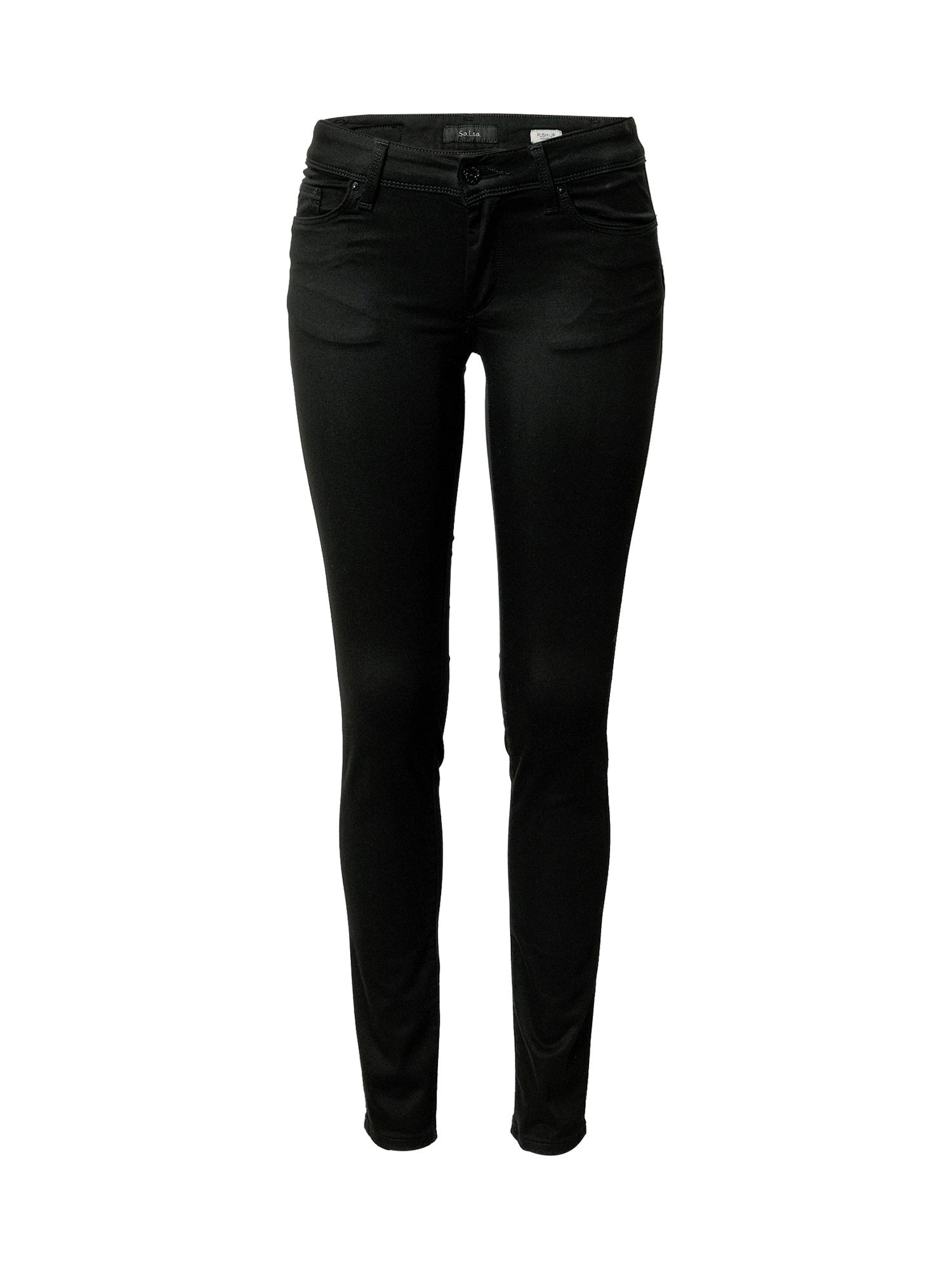 Salsa Džinsai juodo džinso spalva