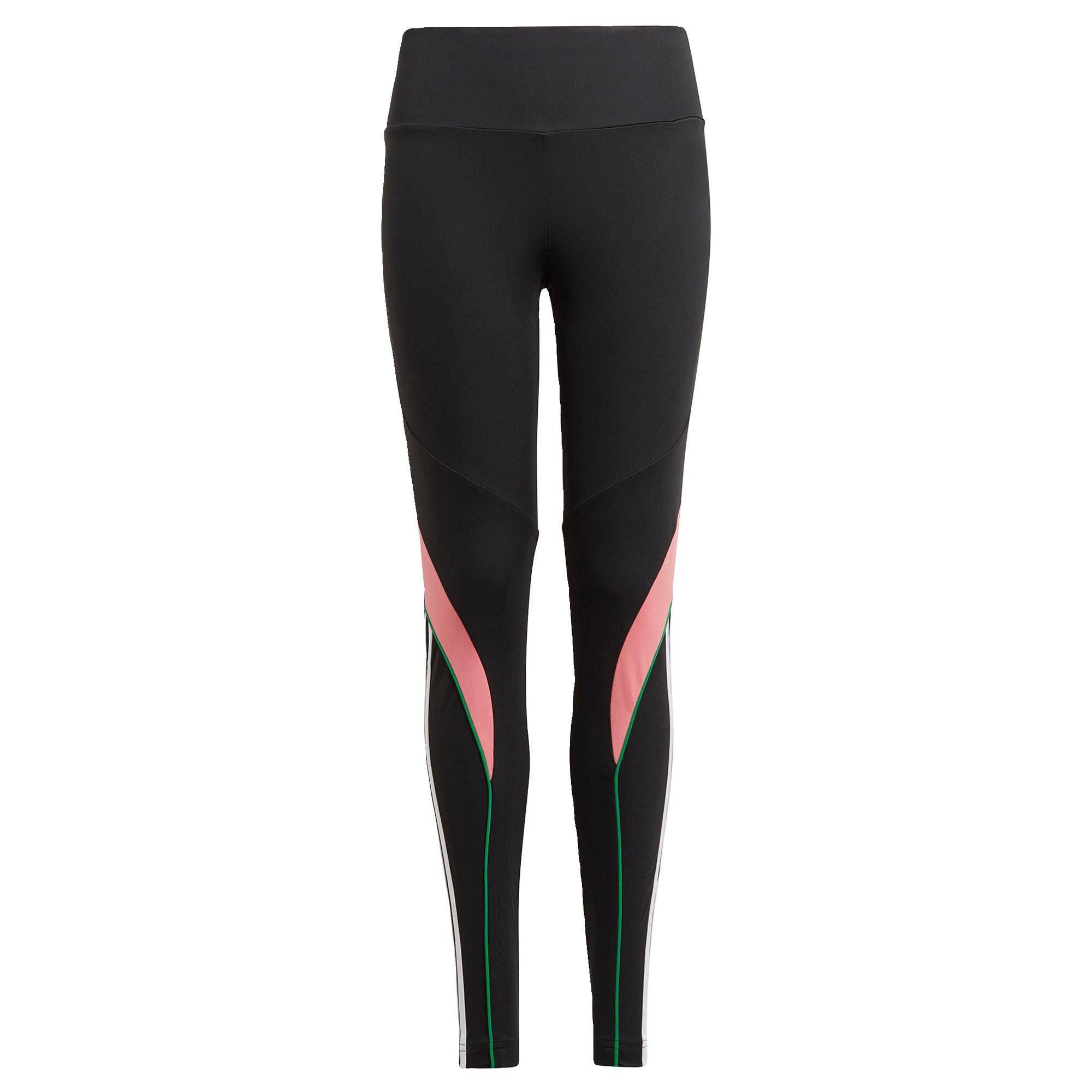ADIDAS PERFORMANCE Sportinės kelnės juoda / rožių spalva / žalia