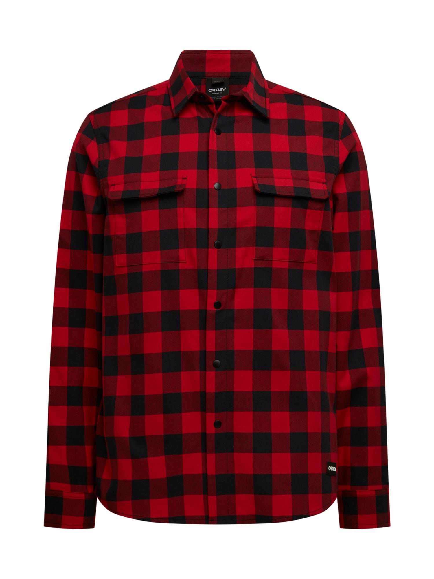 OAKLEY Funkciniai marškiniai šviesiai raudona / juoda