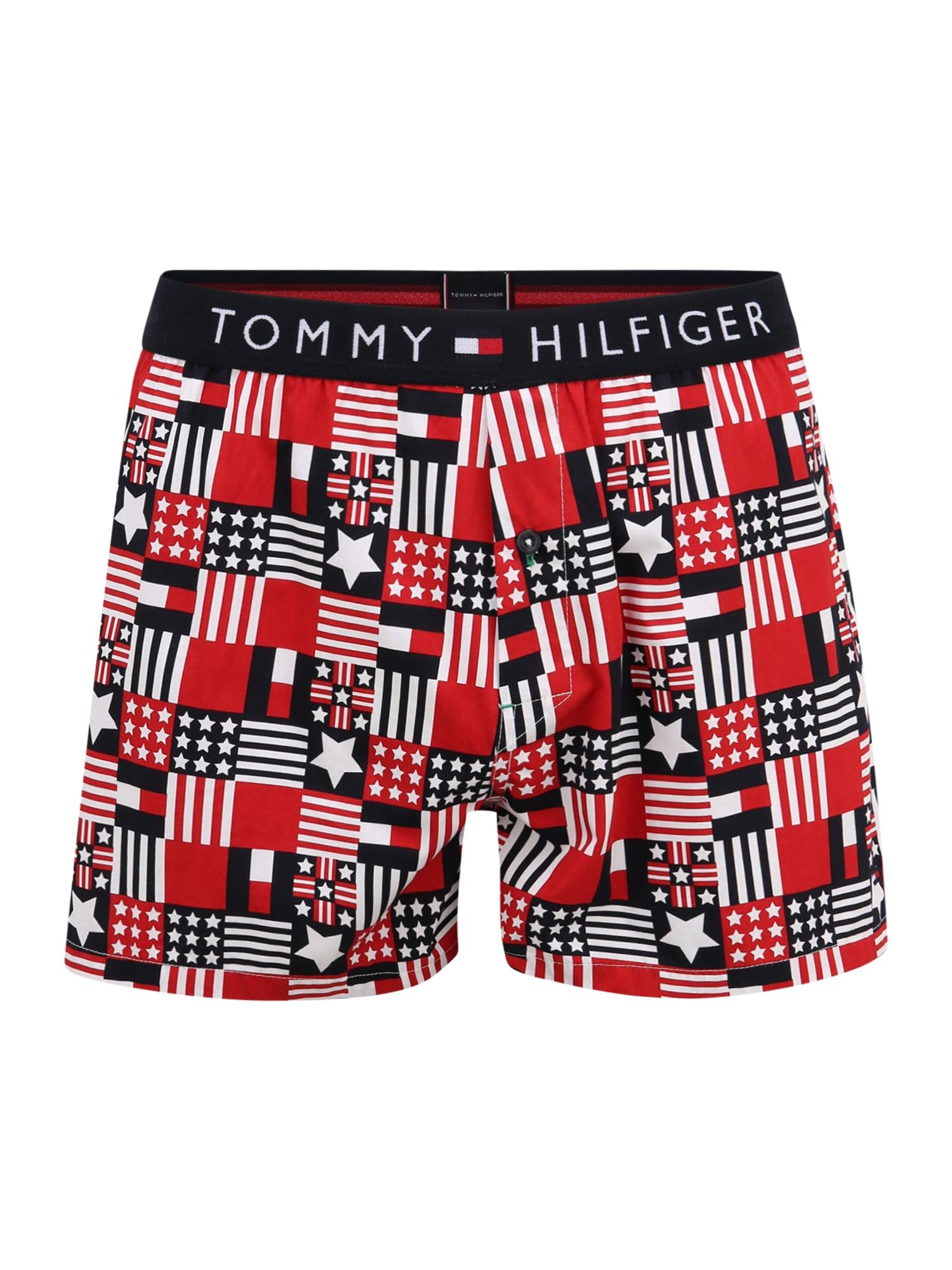 Tommy Hilfiger Underwear Boxer trumpikės tamsiai mėlyna / balta / ugnies raudona