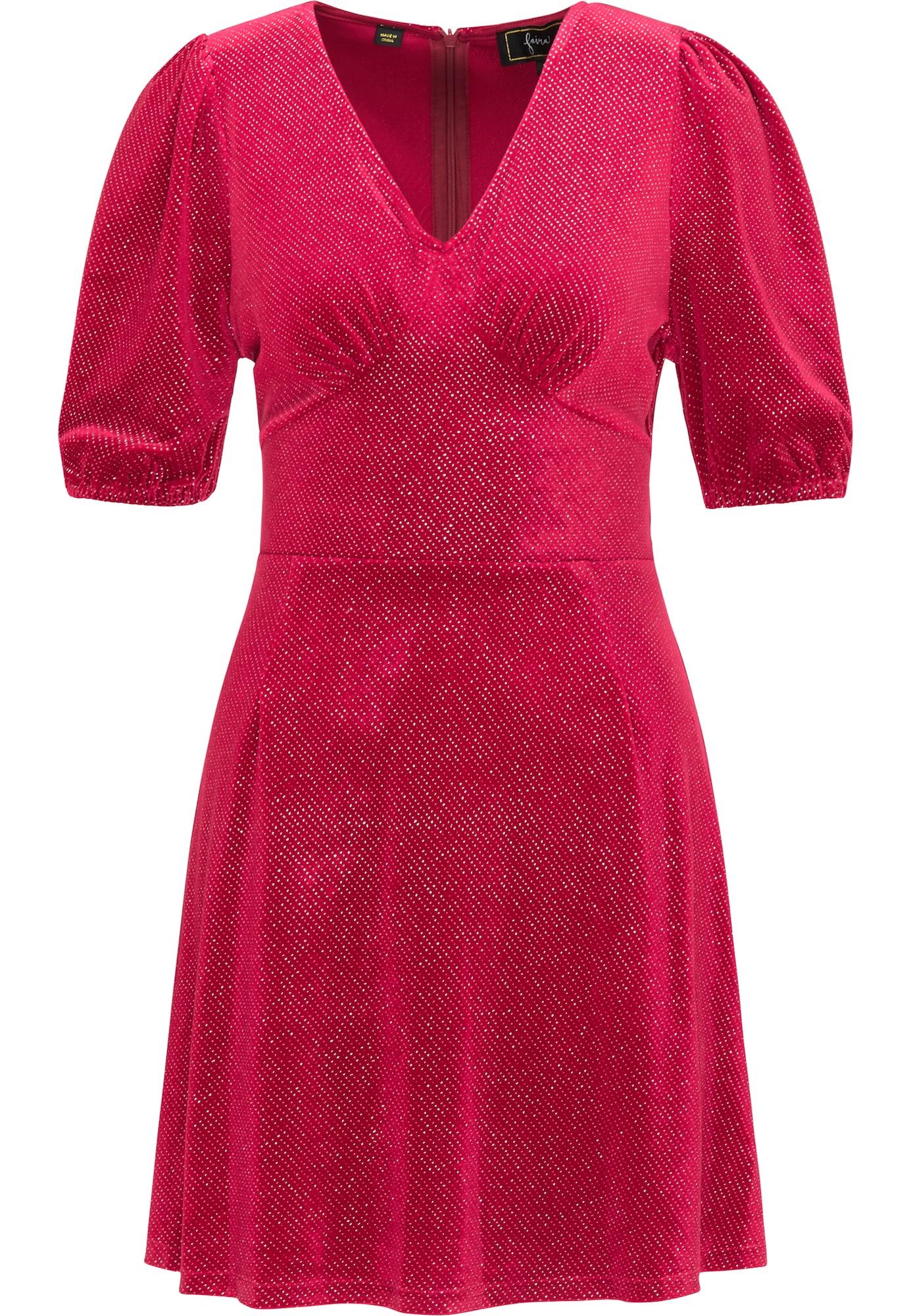 faina Kokteilinė suknelė fuksijų spalva