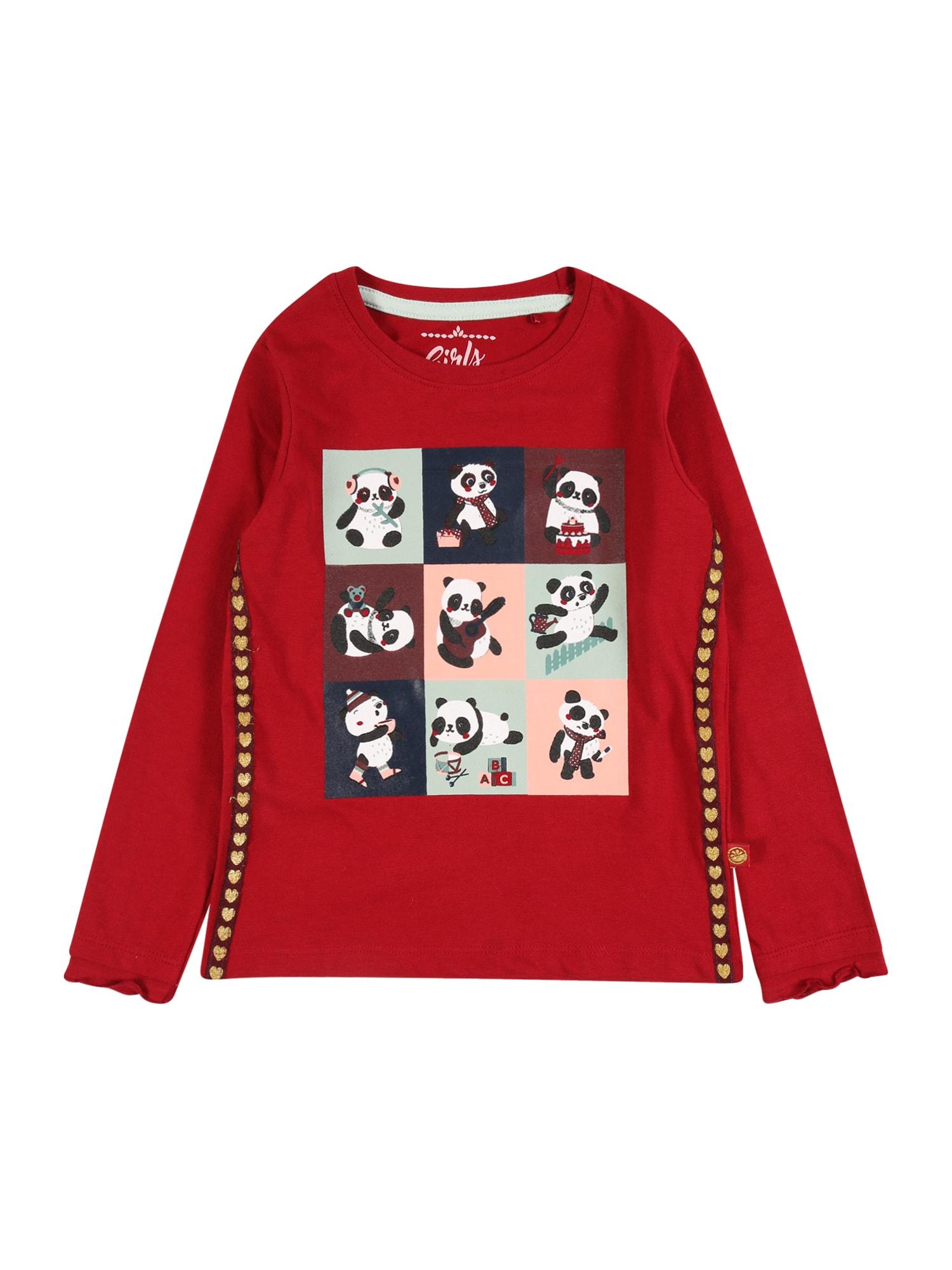 LEMON BERET Marškinėliai raudona / balta / juoda / mėtų spalva / pastelinė rožinė