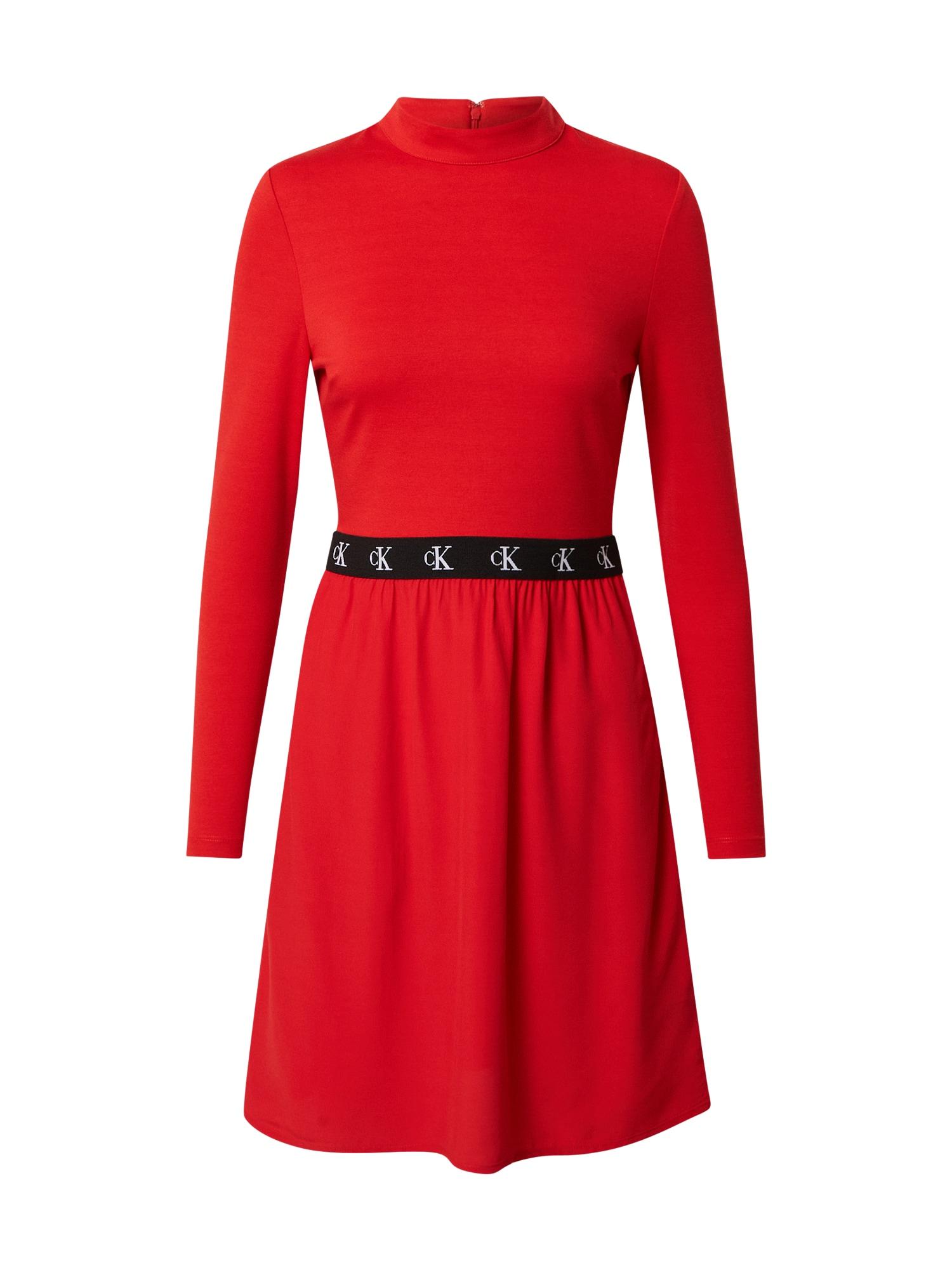 Calvin Klein Jeans Suknelė raudona / juoda