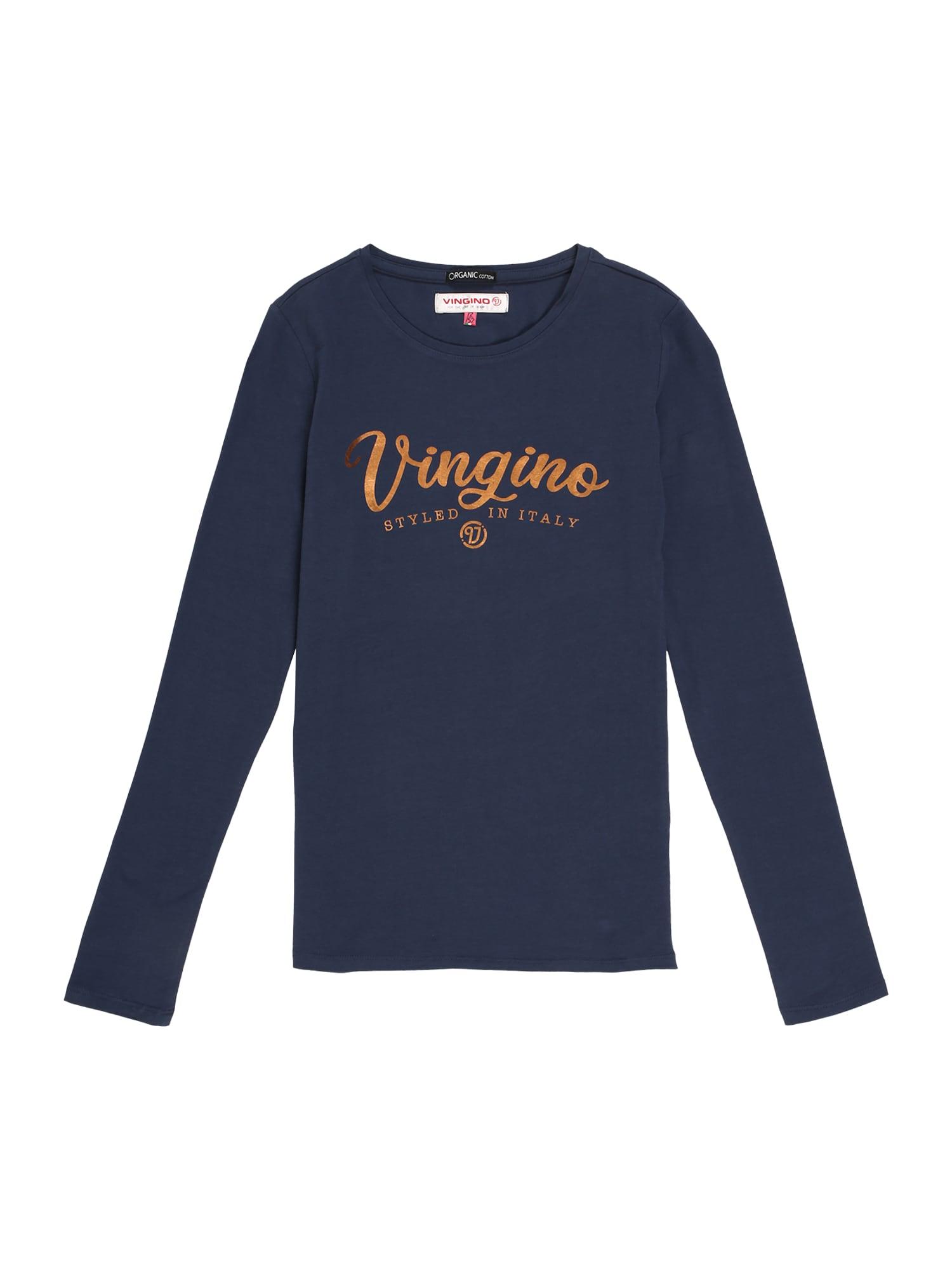 VINGINO Marškinėliai tamsiai mėlyna / oranžinė