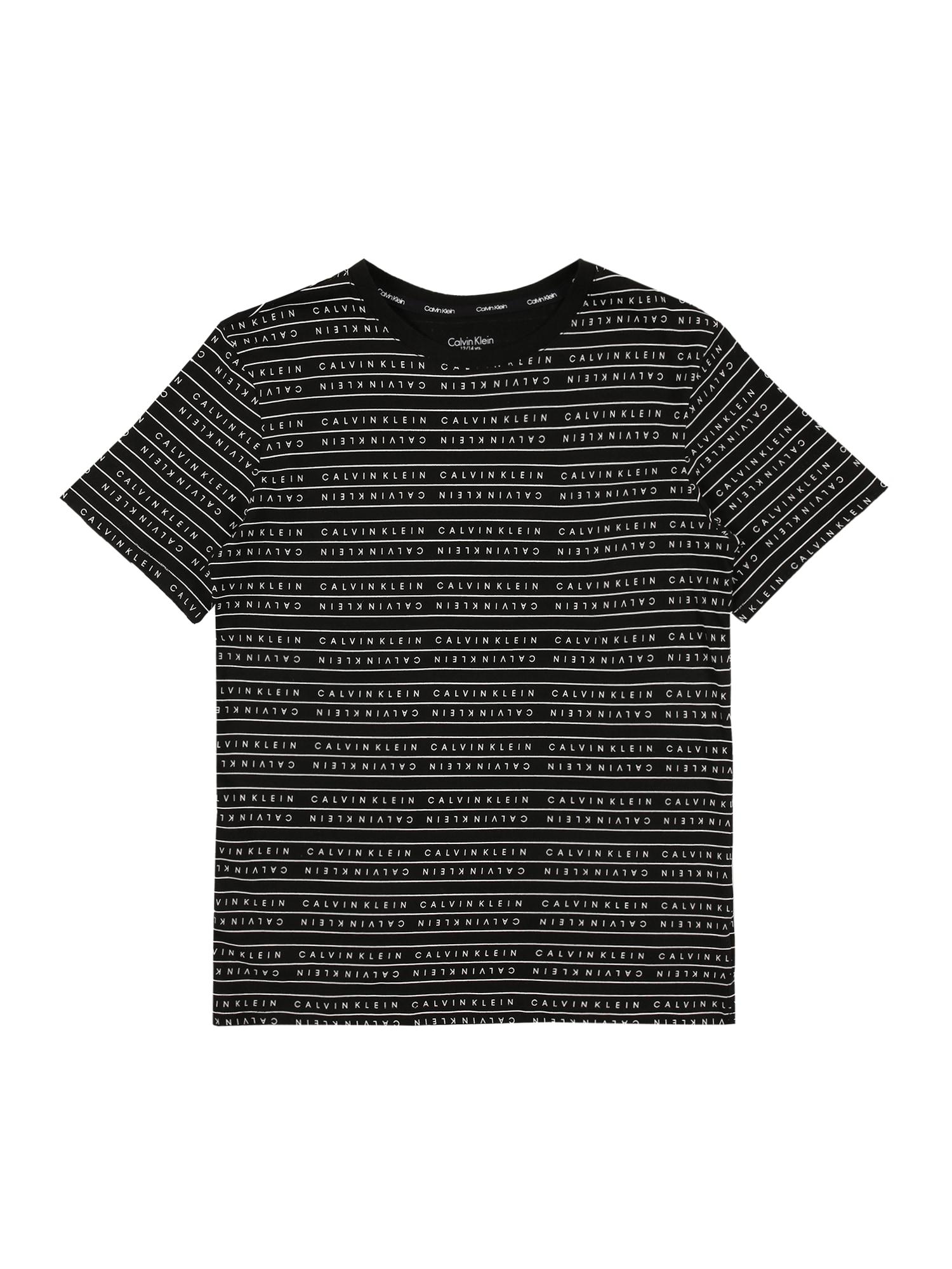 Calvin Klein Underwear Marškinėliai juoda / balta