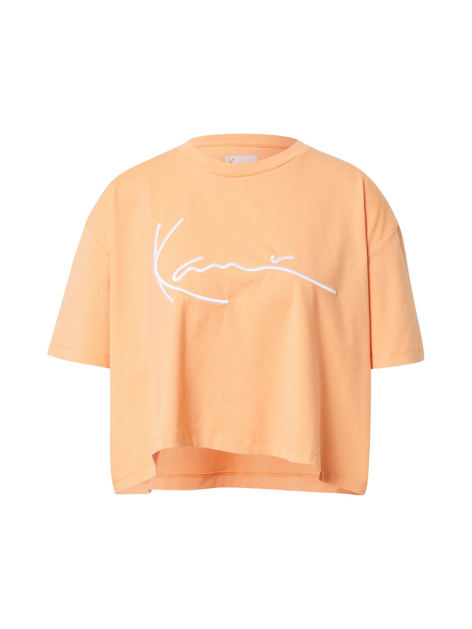Karl Kani Laisvi marškinėliai šviesiai oranžinė / balta