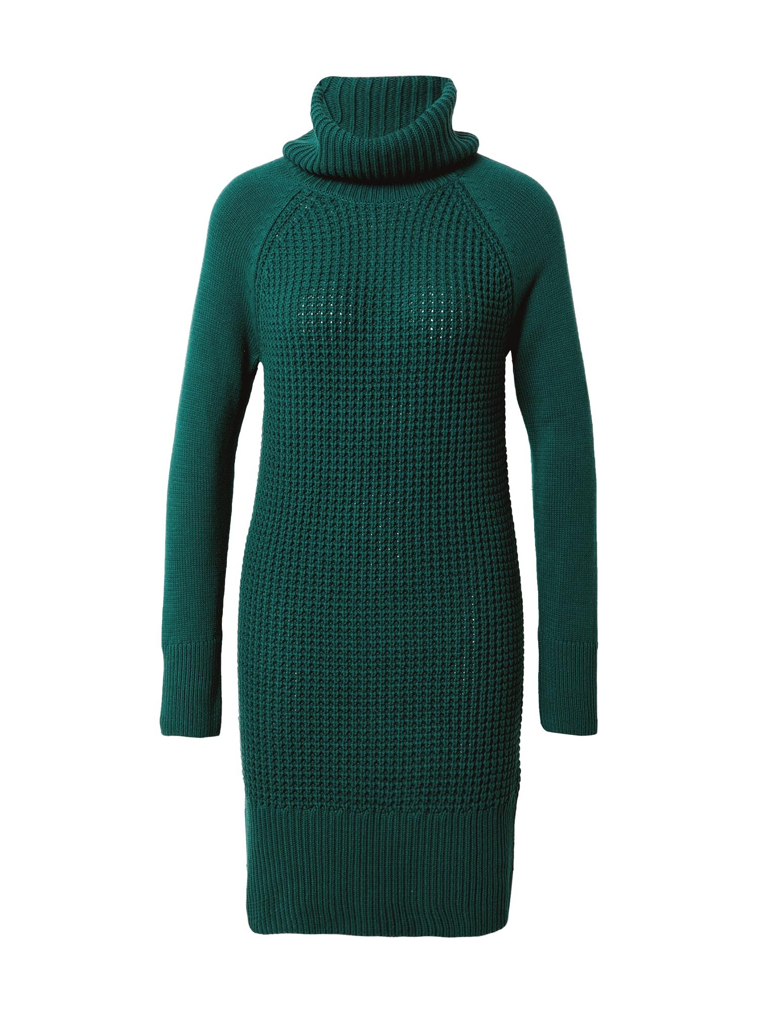 EDC BY ESPRIT Megzta suknelė tamsiai žalia